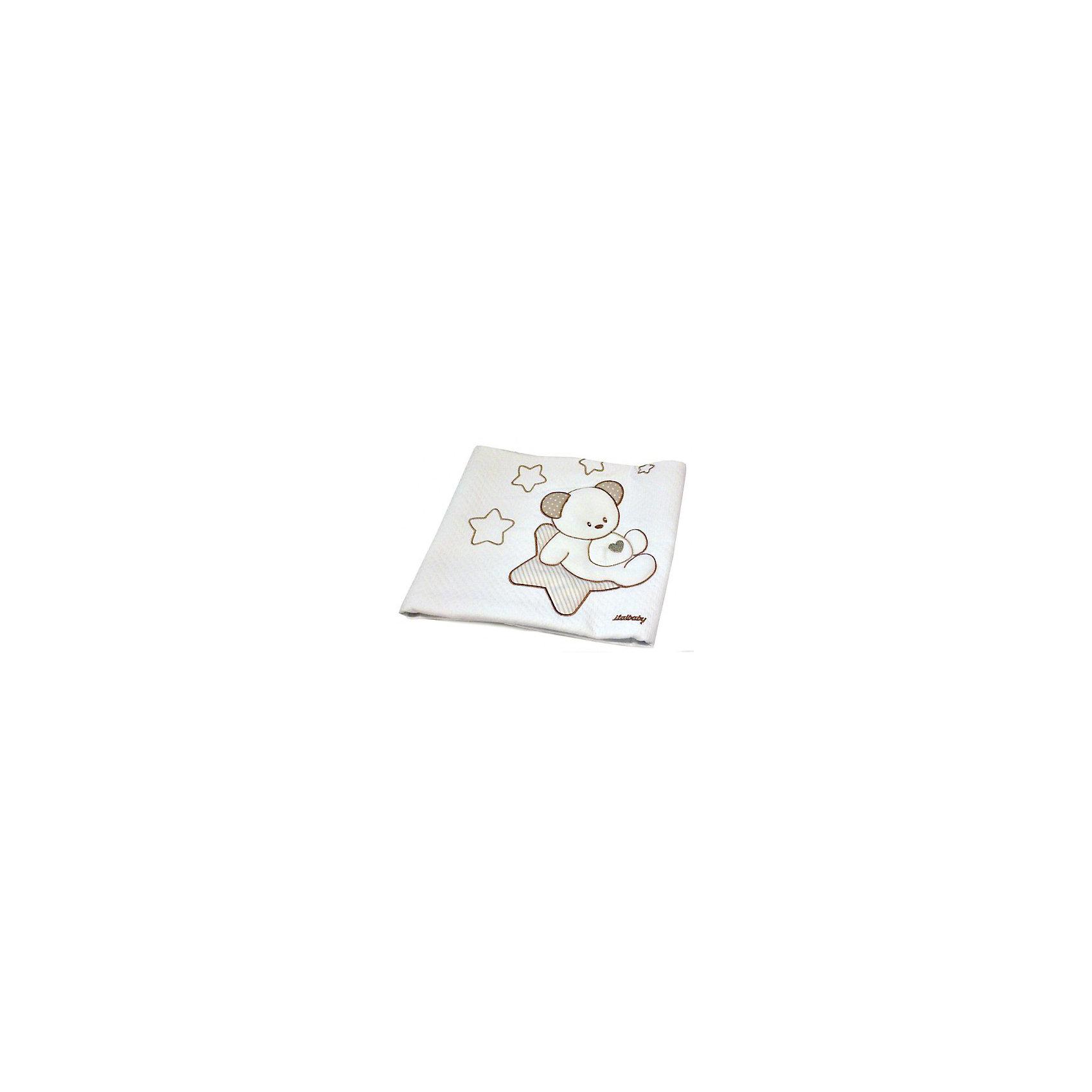 Покрывало Sweet Star 65х80 пике, Italbaby, кремОдеяла, пледы<br>Стильное покрывало, украшенное ручной вышивкой, изготовлено из хлопковой гипоаллергенной ткани. Легко стирается в стиральной машине с программой мягкой стирки. <br><br>Дополнительная информация:<br><br>- Материал: хлопок 100%.<br>- Габариты: 65х80 см.<br>- Цвет: кремовый.<br><br>Купить покрывало Sweet Star, можно в нашем магазине.<br><br>Ширина мм: 800<br>Глубина мм: 650<br>Высота мм: 200<br>Вес г: 500<br>Возраст от месяцев: 0<br>Возраст до месяцев: 36<br>Пол: Унисекс<br>Возраст: Детский<br>SKU: 5093571