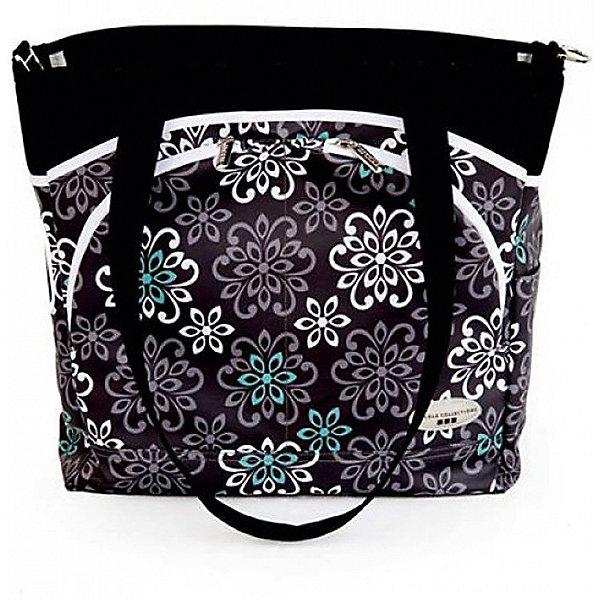 Сумка Mode,JJ Cole, черный с цветамиАксессуары для колясок<br>Вместительная сумка для мамы имеет 12 внутренних и внешних карманов для удобного хранения и транспортировки всех детских принадлежностей и аксессуаров. В зависимости от ситуации сумку можно носить 3 способами: <br>как элегантную женскую сумку за ручки, с ремнем через плечо, и за специальные нескользящие крепления к коляске. <br><br>Дополнительная информация: <br><br>- Размер сумки: 14.5х13.5х5 см.<br>- Материал: текстиль.<br>- Цвет: черный с цветочным орнаментом.<br><br>Купить сумку Mode от JJ Cole, можно в нашем магазине.<br><br>Ширина мм: 120<br>Глубина мм: 450<br>Высота мм: 400<br>Вес г: 900<br>Возраст от месяцев: 0<br>Возраст до месяцев: 588<br>Пол: Унисекс<br>Возраст: Детский<br>SKU: 5093581