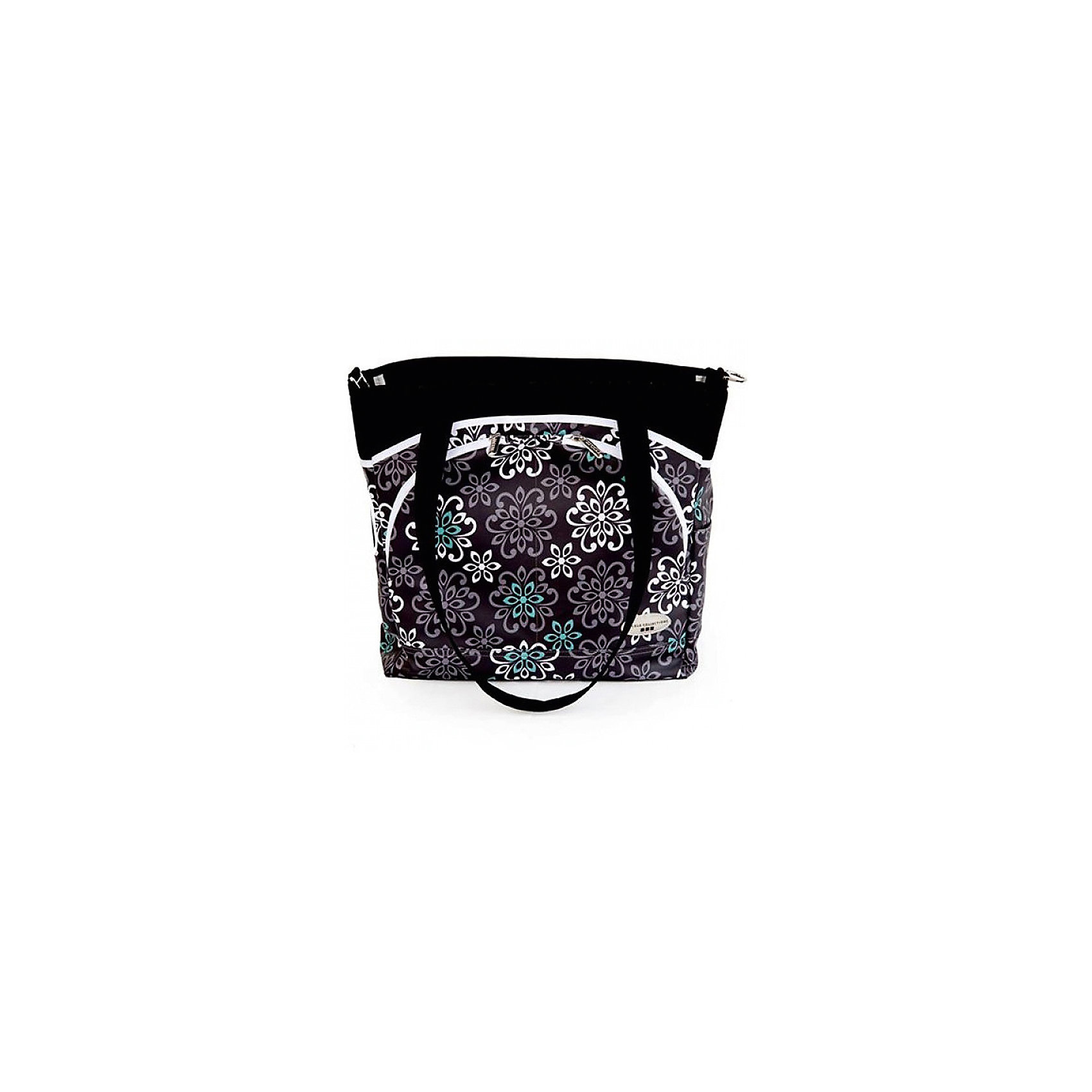 Сумка Mode,JJ Cole, черный с цветамиВместительная сумка для мамы имеет 12 внутренних и внешних карманов для удобного хранения и транспортировки всех детских принадлежностей и аксессуаров. В зависимости от ситуации сумку можно носить 3 способами: <br>как элегантную женскую сумку за ручки, с ремнем через плечо, и за специальные нескользящие крепления к коляске. <br><br>Дополнительная информация: <br><br>- Размер сумки: 14.5х13.5х5 см.<br>- Материал: текстиль.<br>- Цвет: черный с цветочным орнаментом.<br><br>Купить сумку Mode от JJ Cole, можно в нашем магазине.<br><br>Ширина мм: 120<br>Глубина мм: 450<br>Высота мм: 400<br>Вес г: 900<br>Возраст от месяцев: 0<br>Возраст до месяцев: 588<br>Пол: Унисекс<br>Возраст: Детский<br>SKU: 5093581
