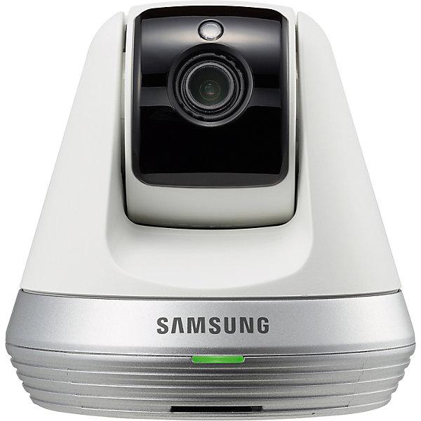 Видеоняня Samsung  Wi-Fi SmartCam SNH-V6410PNWВидеоняни<br>Характеристики:<br><br>• Предназначение: для удаленного контроля за ребенком<br>• Цвет: серебристый, белый, серый<br>• Материал: пластик<br>• Режим видения: дневное, ночное<br>• Комлектация: видеокамера, программное обеспечение, комплект для крепления к стене, инструкция<br>• Технические требования к базовому блоку: мобильные устройства Apple iOS 6 или выше, на базе Android OS не ниже 4.X, персональные компьютеры Windows не ниже 7/8, Mac не ниже 10.7.<br>• Тип подключения: беспроводное, Wi-Fi (модуль встроенный)<br>• Изображение: потоковое, Full HD 1080p<br>• Режим автоматического поворота камеры вслед за движениями ребенка<br>• Наличие датчика звука, который обеспечивает двухстороннюю связь<br>• Наличие датчика температуры<br>• Возможность записи видео и фото<br>• Удаленное управление углом наклона и поворотом камеры<br>• Размер упаковки: 20х10х15 см <br>• Вес: 400 г<br><br>Видеоняня Wi-Fi SmartCam SNH-V6410PNW, Samsung – это новое поколение видеонянь от знаменитого производителя, обеспечивающих удаленный контроль за ребенком по Wi-Fi. Видеокамера обладает расширенным функционалом: оснащенная датчиками звука, движения камера отслеживает даже минимальную двигательную активность и изменения в поведении ребенка, о чем сообщается незамедлительно на базовый блок. В качестве базового блока можно использовать мобильный телефон, планшет или компьютер, установив предварительно на него специализированное программное обеспечение, которое предусмотрено в комплекте. Камера обеспечивает высокое качество потокового видео, что позволяет отслеживать деятельность ребенка даже на длительных расстояниях (будучи в поездках, при  наличии интернета на базовом блоке). Видеоняня адаптирует изображение в зависимости от степени освещения, у устройства предусотрена дневная и ночная съемка. Сиситема видеонаблюдения за ребенком позволяет подключать неограниченное количество устройст и пользователей при условии соблюдения технических тре