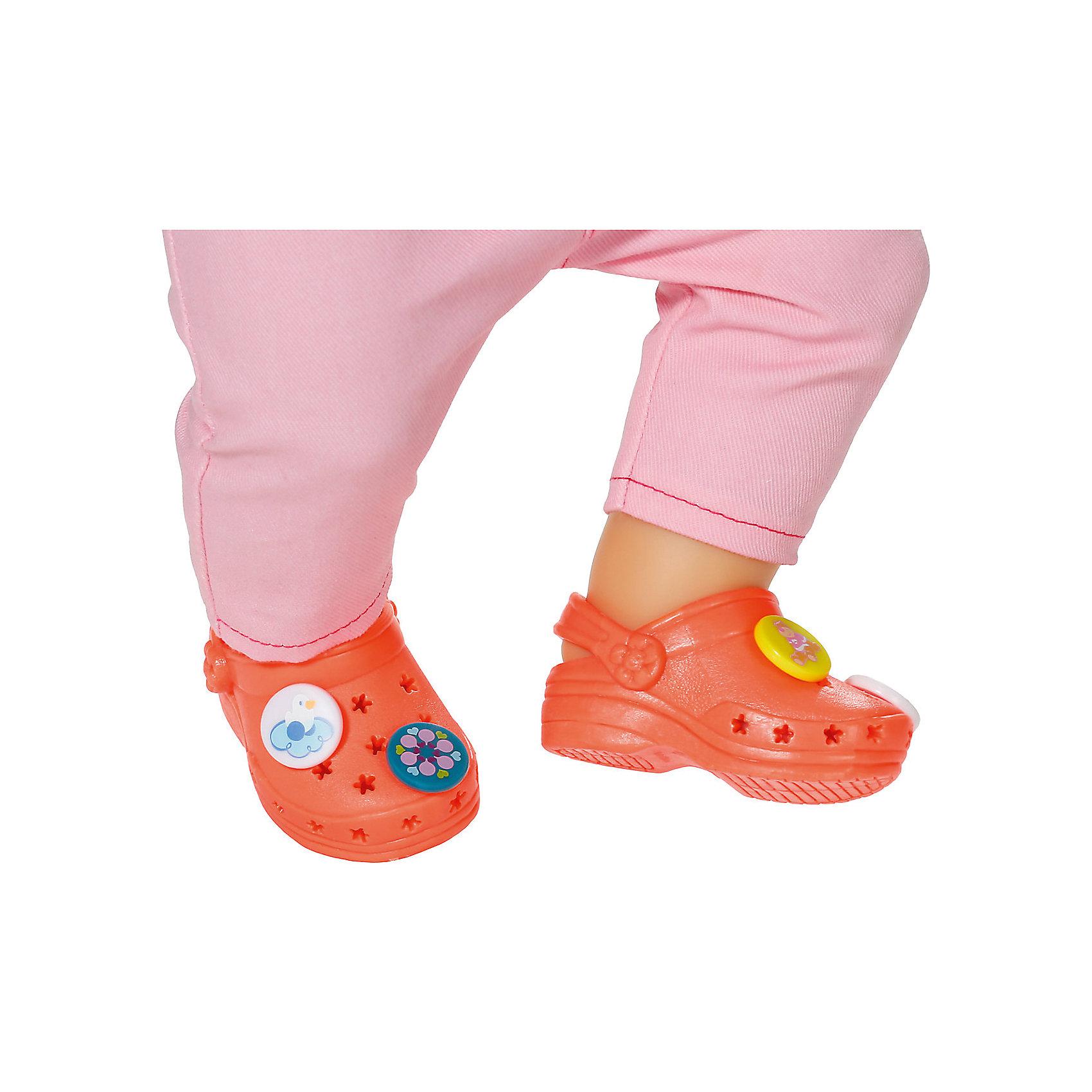 Zapf Creation Сандали фантазийные, оранжевые, BABY born сандали кожаные