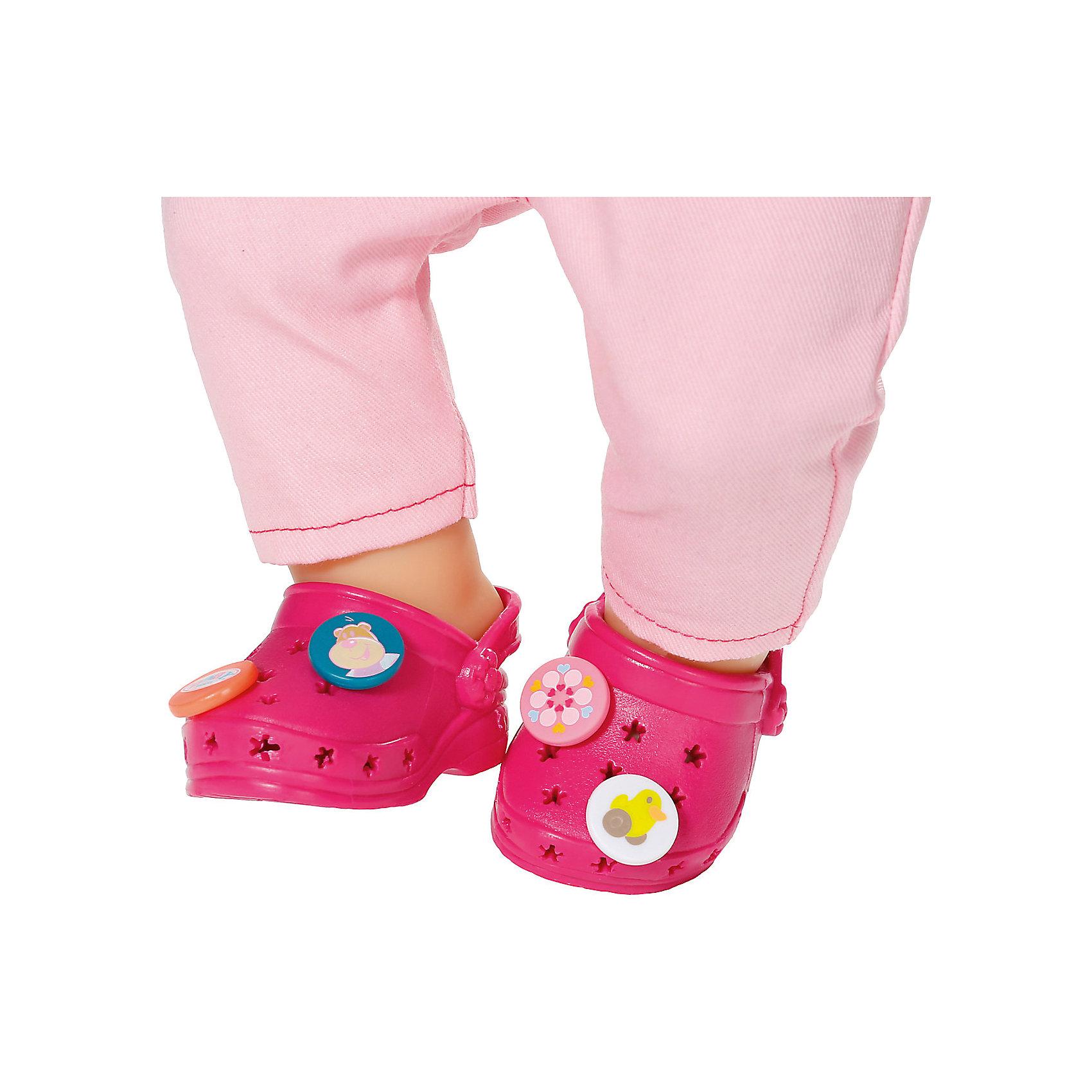 Zapf Creation Сандали фантазийные, розовые, BABY born сандали кожаные