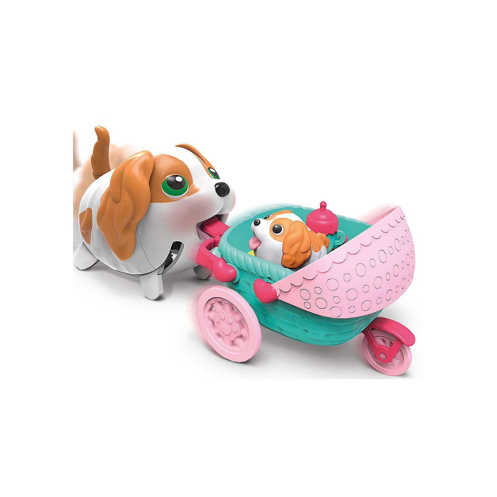 Транспорт  Спаниель, Chubby PuppiesВеселый щенок со своим транспортом. В ассортименте коляска и лоток мороженого. Собака ходит и везет перед собой свой транспорт. Несколько аксессуаров в каждом наборе.<br><br>Ширина мм: 110<br>Глубина мм: 150<br>Высота мм: 250<br>Вес г: 350<br>Возраст от месяцев: 36<br>Возраст до месяцев: 2147483647<br>Пол: Женский<br>Возраст: Детский<br>SKU: 5094044