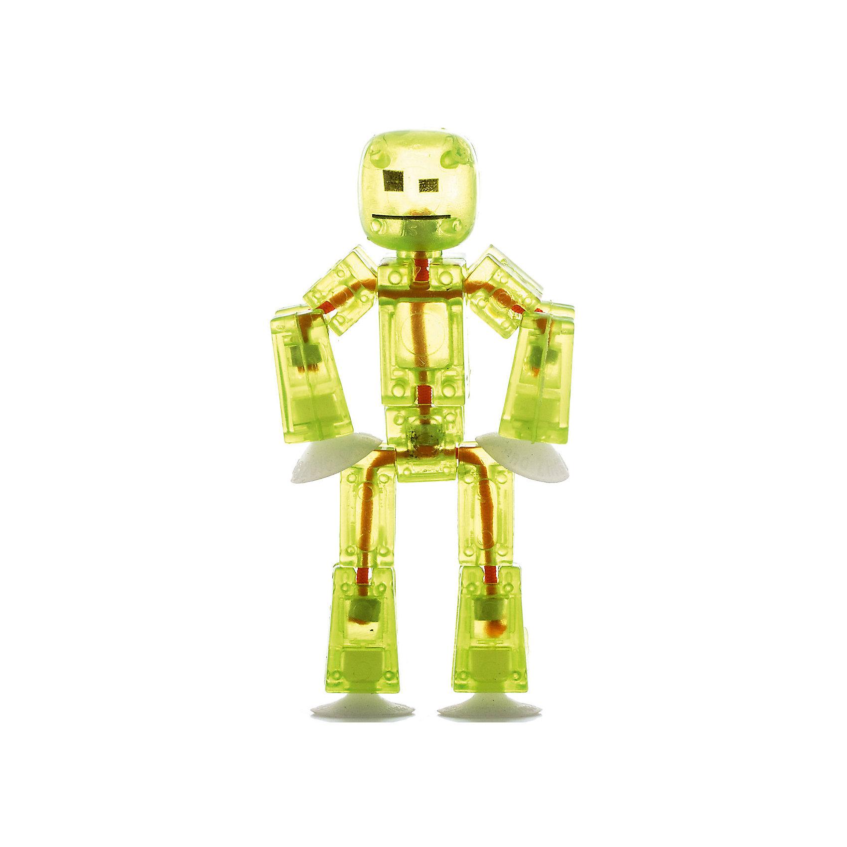 Игрушка-фигурка, желтая, StikbotХарактеристики товара:<br><br>- цвет: желтый;<br>- материал: пластик, металл;<br>- комплектация: 1 фигурка;<br>- особенности: для съемки роликов;<br>- размер фигурки: 8 см;<br>- размер упаковки: 11х2х12 см;<br>- вес: 62 г.<br><br>Такое увлекательное занятие, как съемка роликов или мультфильфов, не оставит ребенка равнодушным! Для этого нужен набор Stikbot (или просто фигурки), смартфон и специальное приложение! Такие человечки помогут дополнить домашнюю студию и разнообразить сюжеты роликов. Они легко фиксируются в определенном положении, на них есть специальные присоски. Снимать ролики с такими героями - очень легко, поэтому они станут отличным подарком ребенку. Процесс съемки помогает ребенку развить логику, творческие способности ребенка, мышление, внимание, воображение и мелкую моторику.<br>Изделие произведено из высококачественного материала, безопасного для детей.<br><br>Игрушку-фигурку, желтую, от бренда Stikbot можно купить в нашем интернет-магазине.<br><br>Ширина мм: 30<br>Глубина мм: 140<br>Высота мм: 110<br>Вес г: 63<br>Возраст от месяцев: 36<br>Возраст до месяцев: 2147483647<br>Пол: Унисекс<br>Возраст: Детский<br>SKU: 5094046