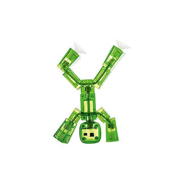 Игрушка-фигурка, зеленая, StikbotФигурки из мультфильмов<br>Характеристики товара:<br><br>- цвет: зеленый;<br>- материал: пластик, металл;<br>- комплектация: 1 фигурка;<br>- особенности: для съемки роликов;<br>- размер фигурки: 8 см;<br>- размер упаковки: 11х2х12 см;<br>- вес: 62 г.<br>-скачайте на Ваше устройство приложение на App Store и Google Play<br><br>Такое увлекательное занятие, как съемка роликов или мультфильфов, не оставит ребенка равнодушным! Для этого нужен набор Stikbot (или просто фигурки), смартфон и специальное приложение! Такие человечки помогут дополнить домашнюю студию и разнообразить сюжеты роликов. Они легко фиксируются в определенном положении, на них есть специальные присоски. Снимать ролики с такими героями - очень легко, поэтому они станут отличным подарком ребенку. Процесс съемки помогает ребенку развить логику, творческие способности ребенка, мышление, внимание, воображение и мелкую моторику.<br>Изделие произведено из высококачественного материала, безопасного для детей.<br><br>Игрушку-фигурку, зеленую, от бренда Stikbot можно купить в нашем интернет-магазине.<br>Ширина мм: 30; Глубина мм: 140; Высота мм: 110; Вес г: 63; Возраст от месяцев: 36; Возраст до месяцев: 2147483647; Пол: Унисекс; Возраст: Детский; SKU: 5094050;