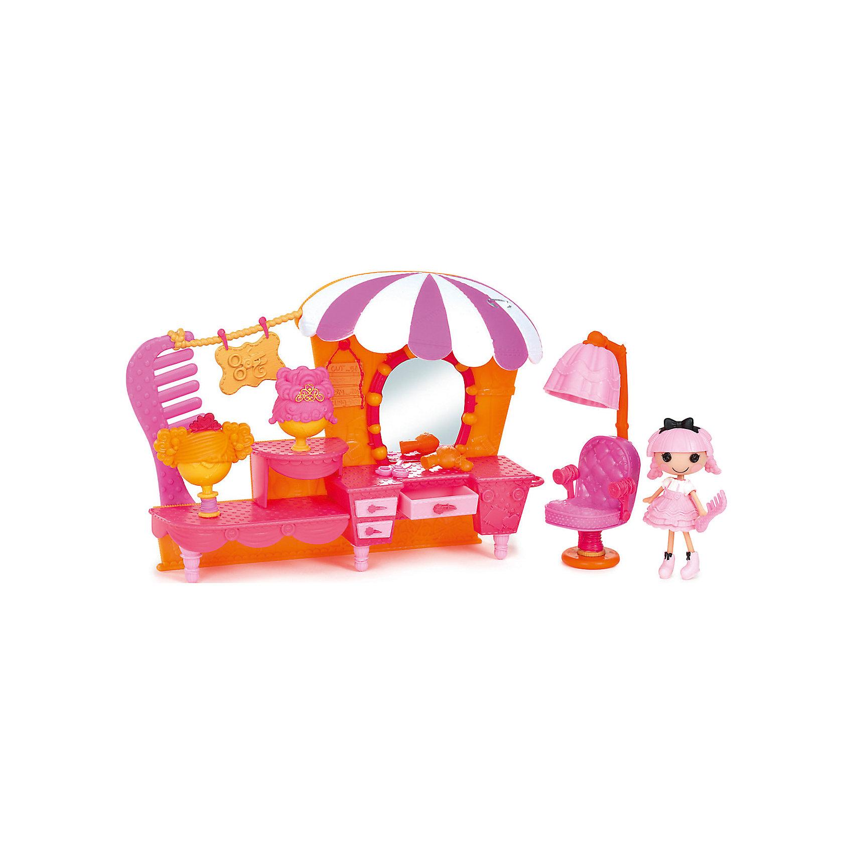 Набор Салон с интерьером, ЛалалупсиИгрушечные домики и замки<br>Характеристики товара:<br><br>- цвет: разноцветный;<br>- материал: пластик;<br>- подвижные части тела;<br>- комплектация: кукла, аксессуары, декорации;<br>- размер упаковки: 6x30x20 см.<br><br>Эти симпатичные куклы Мини-Лалалупси от известного бренда не оставят девочку равнодушной! Какая девочка сможет отказаться поиграть с куклами, которых можно переодевать и менять им прически благодаря набору аксессуаров?! В комплект входят наряды и декорации для игр с куклой. Игрушка очень качественно выполнена, поэтому она станет замечательным подарком ребенку. <br>Продается набор в красивой удобной упаковке. Изделие произведено из высококачественного материала, безопасного для детей.<br><br>Набор Салон с интерьером, Лалалупси, можно купить в нашем интернет-магазине.<br><br>Ширина мм: 300<br>Глубина мм: 210<br>Высота мм: 70<br>Вес г: 500<br>Возраст от месяцев: 36<br>Возраст до месяцев: 2147483647<br>Пол: Женский<br>Возраст: Детский<br>SKU: 5094053