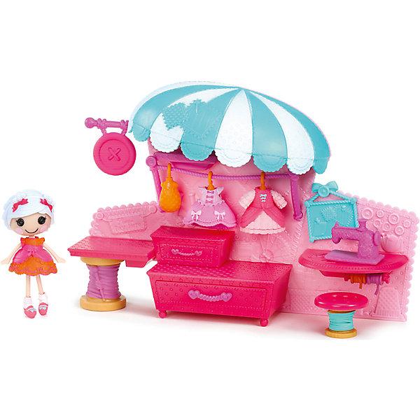 Набор Ателье с интерьером, ЛалалупсиБренды кукол<br>Характеристики товара:<br><br>- цвет: разноцветный;<br>- материал: пластик;<br>- подвижные части тела;<br>- комплектация: кукла, аксессуары, декорации;<br>- размер упаковки: 6x30x20 см.<br><br>Эти симпатичные куклы Мини-Лалалупси от известного бренда не оставят девочку равнодушной! Какая девочка сможет отказаться поиграть с куклами, которых можно переодевать и менять им прически благодаря набору аксессуаров?! В комплект входят наряды и декорации для игр с куклой. Игрушка очень качественно выполнена, поэтому она станет замечательным подарком ребенку. <br>Продается набор в красивой удобной упаковке. Изделие произведено из высококачественного материала, безопасного для детей.<br><br>Набор Ателье с интерьером, Лалалупси, можно купить в нашем интернет-магазине.<br>Ширина мм: 300; Глубина мм: 210; Высота мм: 70; Вес г: 500; Возраст от месяцев: 36; Возраст до месяцев: 2147483647; Пол: Женский; Возраст: Детский; SKU: 5094054;