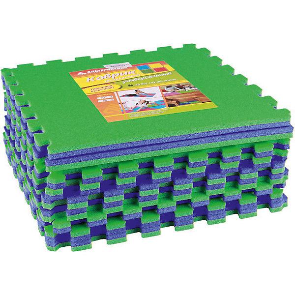 Коврик универ.(1020х1020)(из 9шт), Alternativa, сине-зелёныйДетские ковры<br>Коврик универсальный  (1020х1020)(из 9шт), Alternativa, сине-зелёный подойдёт как для занятий спортом, так и для игр. Коврик не позволит скользить во время упражнений , убережет от случайных ударов об пол и не позволит замерзнуть во время игр на полу. Он изготовлен из пенополиэтилена, который не вызовет аллергическую реакцию. Благодаря ярким цветам коврика, любые занятия ребёнка будут проходить в хорошем, позитивном настроении. <br> В товар входит:<br>- 9 ковриков<br>Дополнительная информация:<br> -Размер: 1020х1020<br> -Цвет: сине-зелёный<br> -Материал: пенополиэтилен <br>  -Марка: Alternativa<br><br>Коврик универсальный  (1020х1020)(из 9шт), Alternativa, сине-зелёный вы можете приобрести в нашем интернет-магазине.<br><br>Ширина мм: 1020<br>Глубина мм: 1020<br>Высота мм: 15<br>Вес г: 540<br>Возраст от месяцев: 6<br>Возраст до месяцев: 36<br>Пол: Унисекс<br>Возраст: Детский<br>SKU: 5096519