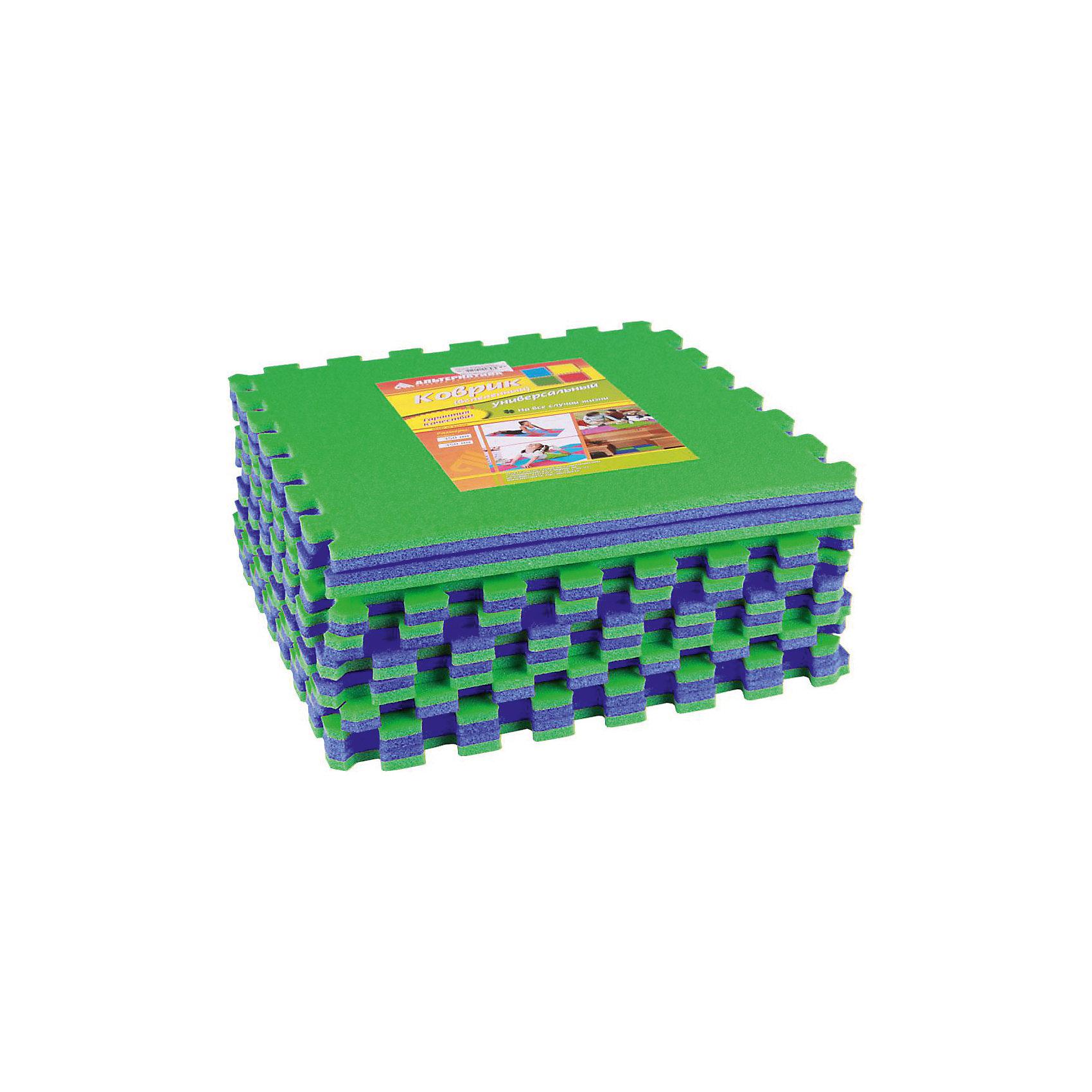 Коврик универ.(1020х1020)(из 9шт), Alternativa, сине-зелёныйКовры<br>Коврик универсальный  (1020х1020)(из 9шт), Alternativa, сине-зелёный подойдёт как для занятий спортом, так и для игр. Коврик не позволит скользить во время упражнений , убережет от случайных ударов об пол и не позволит замерзнуть во время игр на полу. Он изготовлен из пенополиэтилена, который не вызовет аллергическую реакцию. Благодаря ярким цветам коврика, любые занятия ребёнка будут проходить в хорошем, позитивном настроении. <br> В товар входит:<br>- 9 ковриков<br>Дополнительная информация:<br> -Размер: 1020х1020<br> -Цвет: сине-зелёный<br> -Материал: пенополиэтилен <br>  -Марка: Alternativa<br><br>Коврик универсальный  (1020х1020)(из 9шт), Alternativa, сине-зелёный вы можете приобрести в нашем интернет-магазине.<br><br>Ширина мм: 1020<br>Глубина мм: 1020<br>Высота мм: 15<br>Вес г: 540<br>Возраст от месяцев: 6<br>Возраст до месяцев: 36<br>Пол: Унисекс<br>Возраст: Детский<br>SKU: 5096519