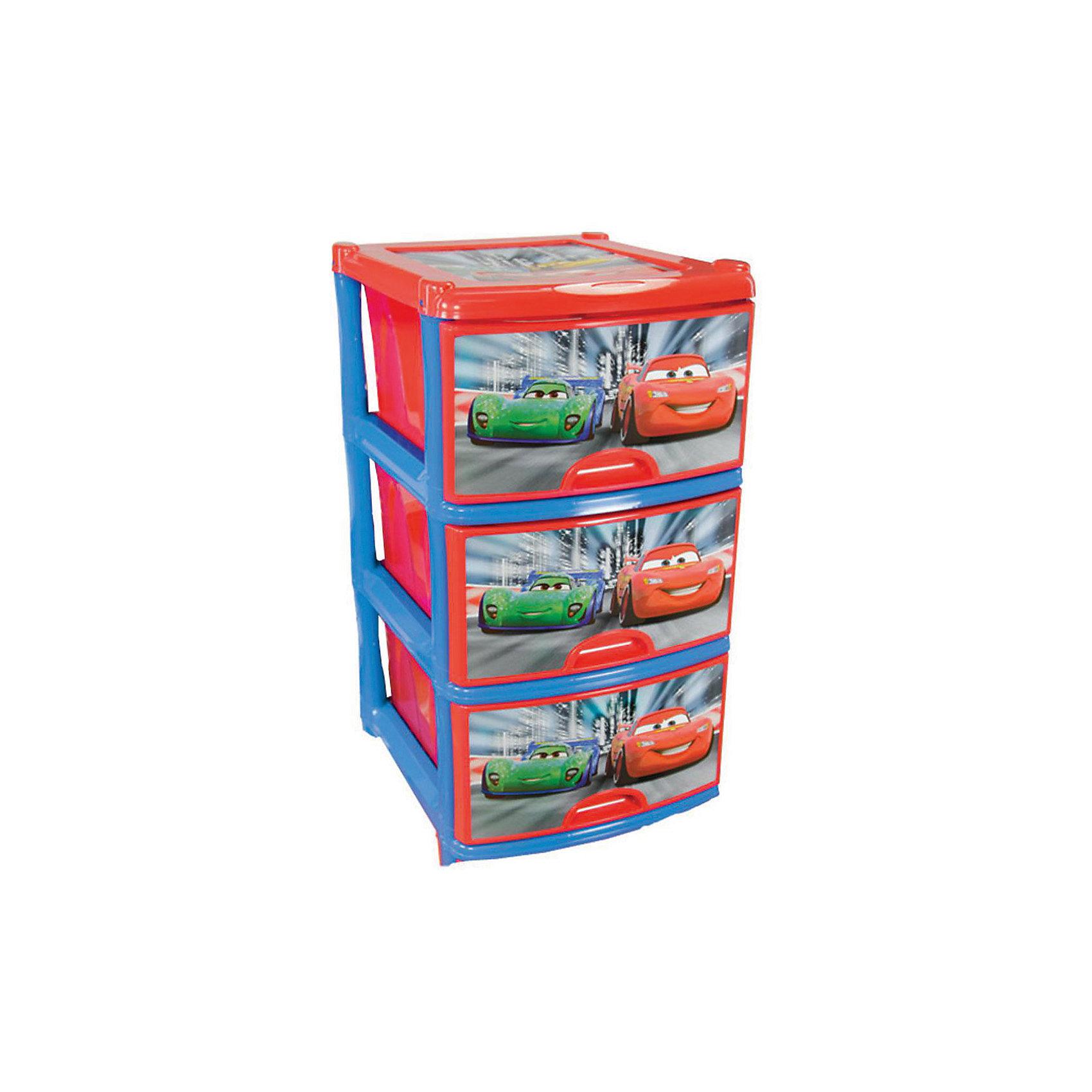 Комод Дисней. Тачки №2, 3-х секционный, AlternativaПорядок в детской<br>Характеристики:<br><br>• Предназначение: для хранения игрушек, одежды, канцелярских принадлежностей и материалов для творчества<br>• Пол: для мальчика<br>• Материал: пластик<br>• Цвет: красный, синий, зеленый<br>• Размер (Д*Ш*В):  48*38*74 см<br>• Вес: 4 кг 200 г<br>• Количество секций: 3 шт.<br>• Тип ящиков: выдвижные, с ручками<br>• В комплекте имеется инструкция по сборке<br>• Форма: прямоугольный<br>• Особенности ухода: разрешается мыть теплой водой<br><br>Комод Дисней №2 3-х секционный, Alternativa изготовлен отечественным производителем ООО ЗПИ Альтернатива, который специализируется на выпуске широкого спектра изделий и предметов мебели из пластика. Комод выполнен из экологически безопасного материала, устойчивого к механическим повреждениям. Имеет компактный размер и повышенную вместимость за счет глубоких ящиков. Каркас комода устойчивый, ножки оснащены маленькими колесиками для удобства передвижения. Ящики оформлены сюжетами с героями из мультсериала Тачки. Комод Дисней №2 3-х секционный, Alternativa станет не только полезным для хранения игрушек, одежды и различных принадлежностей, но и ярким предметом интерьера. <br><br>Комод Дисней №2 3-х секционный, Alternativa можно купить в нашем интернет-магазине.<br><br>Ширина мм: 480<br>Глубина мм: 380<br>Высота мм: 740<br>Вес г: 3444<br>Возраст от месяцев: -2147483648<br>Возраст до месяцев: 2147483647<br>Пол: Мужской<br>Возраст: Детский<br>SKU: 5096522