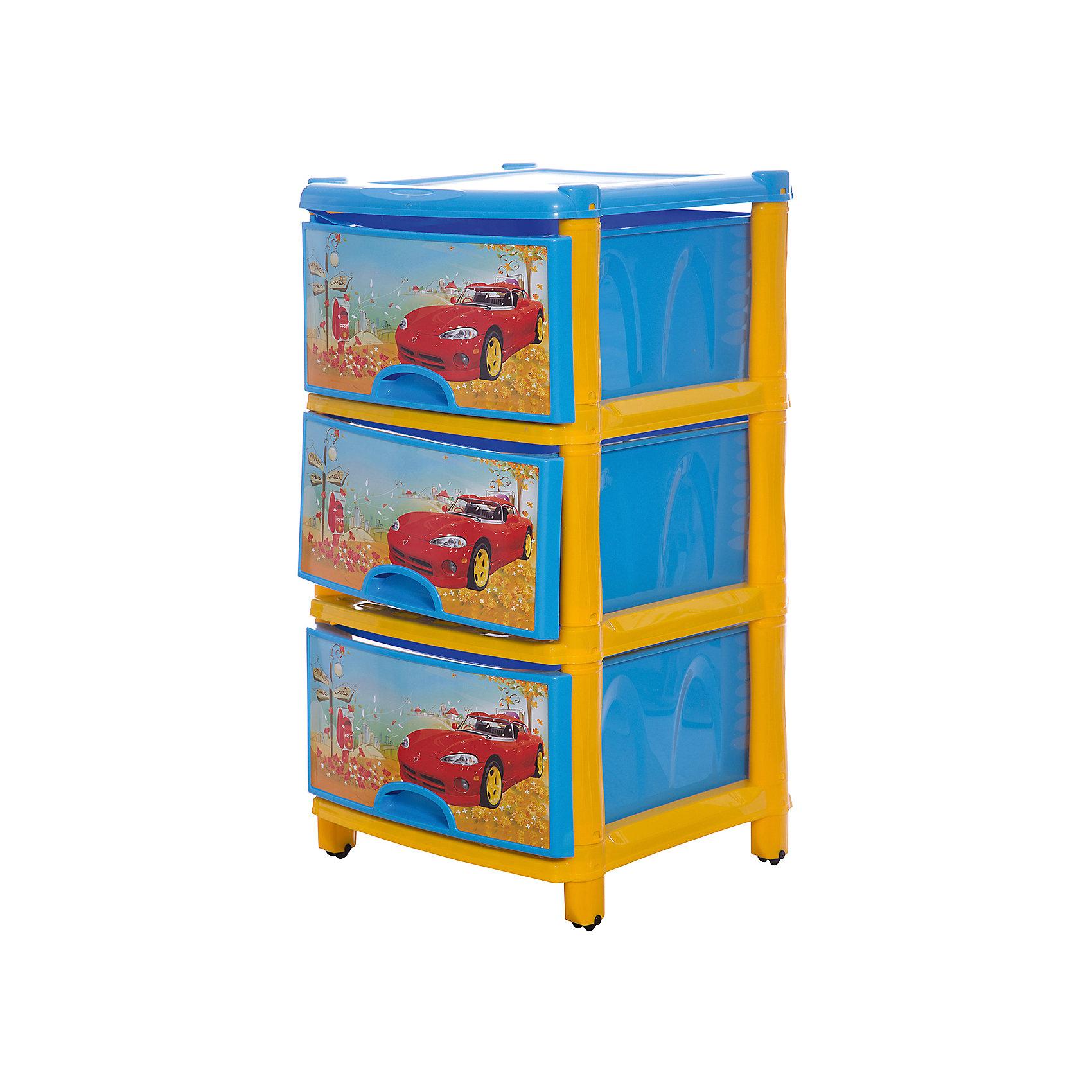 Комод 3-х секционный, Alternativa, синийМебель<br>Характеристики:<br><br>• Предназначение: для детской комнаты<br>• Пол: для мальчика<br>• Материал: пластик<br>• Цвет: голубой, красный, желтый<br>• Размер (Д*Ш*В):  74*48*38 см<br>• Вес: 4 кг 200 г<br>• Количество секций: 3 шт.<br>• Тип ящиков: выдвижные, с ручками<br>• В комплекте имеется инструкция по сборке<br>• Форма: прямоугольный<br>• Особенности ухода: разрешается мыть теплой водой<br><br>Комод 3-х секционный, Alternativa, синий изготовлен отечественным производителем ООО ЗПИ Альтернатива, который специализируется на выпуске широкого спектра изделий и предметов мебели из пластика. Комод выполнен из экологически безопасного материала, устойчивого к механическим повреждениям. Имеет компактный размер и повышенную вместимость за счет глубоких ящиков. Каркас комода устойчивый, ножки оснащены маленькими колесиками для удобства передвижения. Комод 3-х секционный, Alternativa, синий станет не только полезным для хранения различных принадлежностей, но и ярким предметом интерьера. <br><br>Комод 3-х секционный, Alternativa, синий можно купить в нашем интернет-магазине.<br><br>Ширина мм: 480<br>Глубина мм: 380<br>Высота мм: 740<br>Вес г: 3414<br>Возраст от месяцев: -2147483648<br>Возраст до месяцев: 2147483647<br>Пол: Мужской<br>Возраст: Детский<br>SKU: 5096540