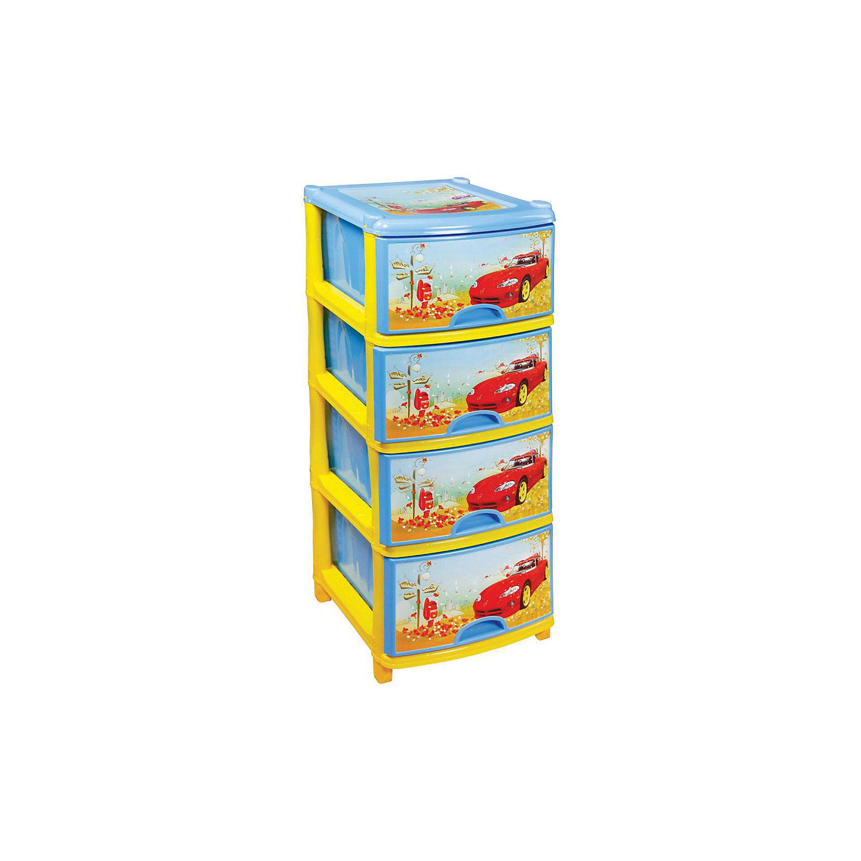 Комод 4-х секционный, Alternativa, синийМебель<br>Характеристики:<br><br>• Предназначение: для детской комнаты<br>• Пол: для мальчика<br>• Материал: пластик<br>• Цвет: голубой, красный, желтый<br>• Размер (Д*Ш*В):  48*98*38 см<br>• Вес: 5 кг 300 г<br>• Количество секций: 4 шт.<br>• Тип ящиков: выдвижные, с ручками<br>• В комплекте имеется инструкция по сборке<br>• Форма: прямоугольный<br>• Особенности ухода: разрешается мыть теплой водой<br><br>Комод 4-х секционный, Alternativa, синий изготовлен отечественным производителем ООО ЗПИ Альтернатива, который специализируется на выпуске широкого спектра изделий и предметов мебели из пластика. Комод выполнен из экологически безопасного материала, устойчивого к механическим повреждениям. Имеет компактный размер и повышенную вместимость за счет глубоких ящиков. Каркас комода устойчивый, ножки оснащены маленькими колесиками для удобства передвижения. Комод 4-х секционный, Alternativa, синий станет не только полезным для хранения различных принадлежностей, но и ярким предметом интерьера. <br><br>Комод 4-х секционный, Alternativa, синий можно купить в нашем интернет-магазине.<br><br>Ширина мм: 480<br>Глубина мм: 380<br>Высота мм: 980<br>Вес г: 4408<br>Возраст от месяцев: -2147483648<br>Возраст до месяцев: 2147483647<br>Пол: Мужской<br>Возраст: Детский<br>SKU: 5096541