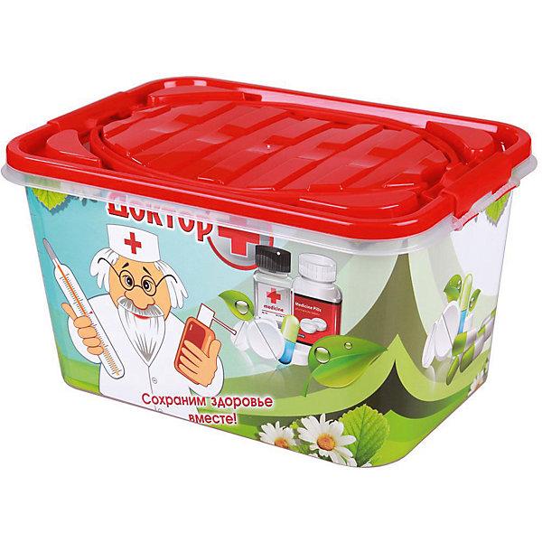 Контейнер Доктор + 15л прямоугольный, AlternativaЯщики для игрушек<br>Характеристики:<br><br>• Предназначение: для хранения игрушек, для хозяйственных нужд<br>• Цвет: зима<br>• Пол: универсальный<br>• Материал: пластик<br>• Цвет: красный, зеленый, белый<br>• Размер (Д*Ш*В): 38,5*26,5*21 см<br>• Вместимость (объем): 15 л<br>• Вес: 750 г<br>• Форма: прямоугольный<br>• Наличие крышки с ручками<br>• Особенности ухода: разрешается мыть теплой водой<br><br>Контейнер Доктор + 15 л прямоугольный, Alternativa изготовлен отечественным производителем ООО ЗПИ Альтернатива, который специализируется на выпуске широкого спектра изделий из пластика. <br>Контейнер выполнен из экологически безопасного прозрачного пластика, устойчивого к механическим повреждениям, корпус оформлен яркими устойчивыми картинками, в комплекте имеется крышка с удобными для переноса ручками. Изделие можно использовать как для хранения игрушек, так и для разных хозяйственных нужд. Контейнер Доктор + 15 л прямоугольный, Alternativa вместительный, но при этом обладает легким весом.<br><br>Контейнер Доктор + 15 л прямоугольный, Alternativa можно купить в нашем интернет-магазине.<br>Ширина мм: 390; Глубина мм: 265; Высота мм: 210; Вес г: 720; Возраст от месяцев: 6; Возраст до месяцев: 84; Пол: Унисекс; Возраст: Детский; SKU: 5096559;