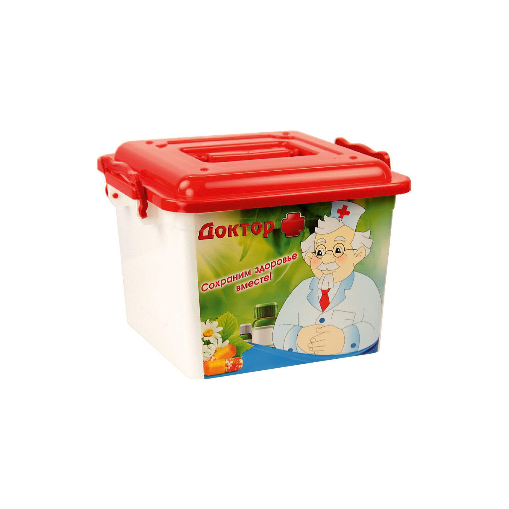 Контейнер Доктор + 8,5л. квадратный , AlternativaХарактеристики:<br><br>• Предназначение: для хранения игрушек, для хозяйственных нужд<br>• Цвет: зима<br>• Пол: универсальный<br>• Материал: пластик<br>• Цвет: красный, зеленый, белый<br>• Размер (Д*Ш*В): 38,5*26,5*21 см<br>• Вместимость (объем): 8,5 л<br>• Вес: 450 г<br>• Форма: квадратный<br>• Наличие крышки с ручками<br>• Особенности ухода: разрешается мыть теплой водой<br><br>Контейнер Доктор + 8,5 л квадратный, Alternativa изготовлен отечественным производителем ООО ЗПИ Альтернатива, который специализируется на выпуске широкого спектра изделий из пластика. <br>Контейнер выполнен из экологически безопасного прозрачного пластика, устойчивого к механическим повреждениям, корпус оформлен яркими устойчивыми картинками, в комплекте имеется крышка с удобными для переноса ручками. Изделие можно использовать как для хранения игрушек, так и для разных хозяйственных нужд. Контейнер Доктор + 8,5 л квадратный, Alternativa вместительный, но при этом обладает легким весом.<br><br>Контейнер Доктор + 8,5 л квадратный, Alternativa можно купить в нашем интернет-магазине.<br><br>Ширина мм: 270<br>Глубина мм: 270<br>Высота мм: 200<br>Вес г: 415<br>Возраст от месяцев: 6<br>Возраст до месяцев: 84<br>Пол: Унисекс<br>Возраст: Детский<br>SKU: 5096560