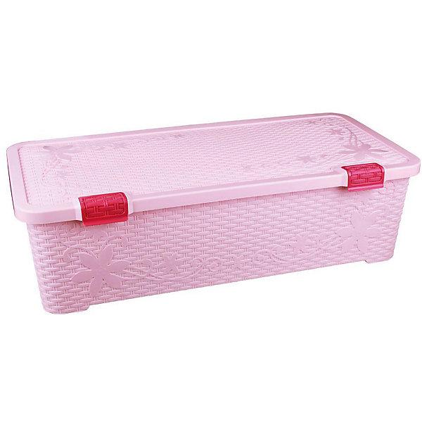 Контейнер Плетёнка 70 л. с крышкой, Alternativa, розовыйЯщики для игрушек<br>Характеристики:<br><br>• Предназначение: для хранения игрушек, для хозяйственных нужд<br>• Цвет: зима<br>• Материал: пластик<br>• Цвет: розовый<br>• Размер (Д*Ш*В): 86*41,5*20 см<br>• Вместимость (объем): 70 л<br>• Форма: прямоугольный<br>• Наличие крышки <br>• Особенности ухода: разрешается мыть теплой водой<br><br>Контейнер Плетёнка 70 л с крышкой, Alternativa, розовый изготовлен отечественным производителем ООО ЗПИ Альтернатива, который специализируется на выпуске широкого спектра изделий из пластика. <br>Контейнер выполнен из экологически безопасного пластика, устойчивого к механическим повреждениям, корпус оформлен имитацией плетенки, в комплекте имеется крышка. Изделие можно использовать как для хранения игрушек, так и для разных хозяйственных нужд. Контейнер Плетёнка 70 л с крышкой, Alternativa, розовый вместительный, но при этом обладает легким весом.<br><br>Контейнер Плетёнка 70 л с крышкой, Alternativa, розовый можно купить в нашем интернет-магазине.<br>Ширина мм: 860; Глубина мм: 425; Высота мм: 250; Вес г: 2460; Возраст от месяцев: -2147483648; Возраст до месяцев: 2147483647; Пол: Женский; Возраст: Детский; SKU: 5096565;