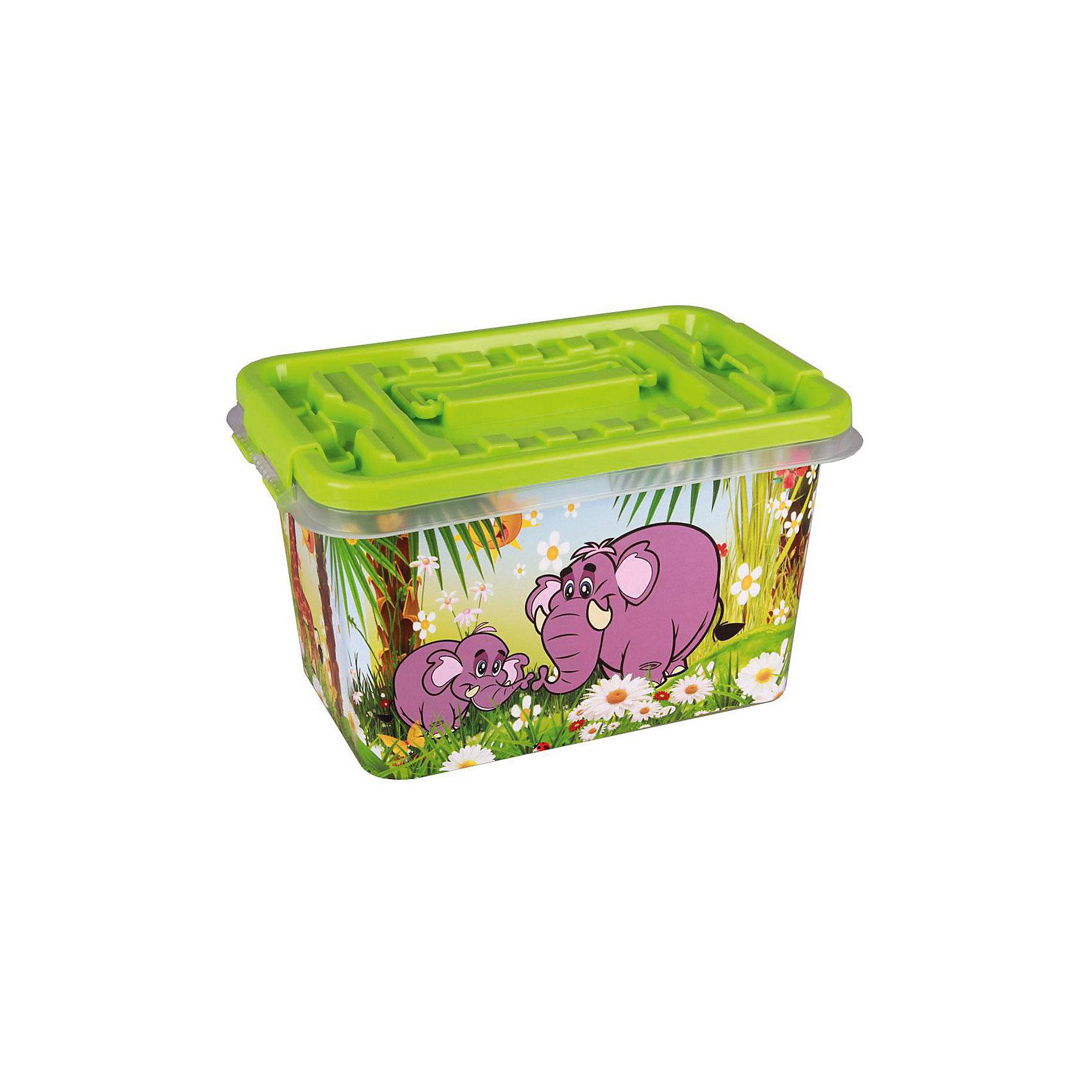 Контейнер Чудо-остров прямоугольный 4л., AlternativaХарактеристики:<br><br>• Предназначение: для хранения игрушек, для канцелярских принадлежностей или предметов для творчества<br>• Материал: пластик<br>• Цвет: салатовый, желтый, белый, фиолетовый<br>• Размер (Д*Ш*В): 26*17*14 см<br>• Вместимость (объем): 4 л<br>• Форма: прямоугольный<br>• Наличие крышки <br>• Особенности ухода: разрешается мыть теплой водой<br><br>Контейнер Чудо-остров прямоугольный 4л., Alternativa изготовлен отечественным производителем ООО ЗПИ Альтернатива, который специализируется на выпуске широкого спектра изделий из пластика. <br>Контейнер выполнен из экологически безопасного пластика, устойчивого к механическим повреждениям, корпус оформлен ярким рисунком, в комплекте имеется крышка салатового цвета. Изделие позволит обеспечить не только порядок в комнате ребенка, но и станет ярким предметом интерьера. Контейнер Чудо-остров прямоугольный 4л., Alternativa удобен для хранения красок, карандашей, пластилина или других предметов для творчества.<br><br>Контейнер Чудо-остров прямоугольный 4л., Alternativa можно купить в нашем интернет-магазине.<br><br>Ширина мм: 260<br>Глубина мм: 170<br>Высота мм: 140<br>Вес г: 275<br>Возраст от месяцев: 6<br>Возраст до месяцев: 84<br>Пол: Унисекс<br>Возраст: Детский<br>SKU: 5096579
