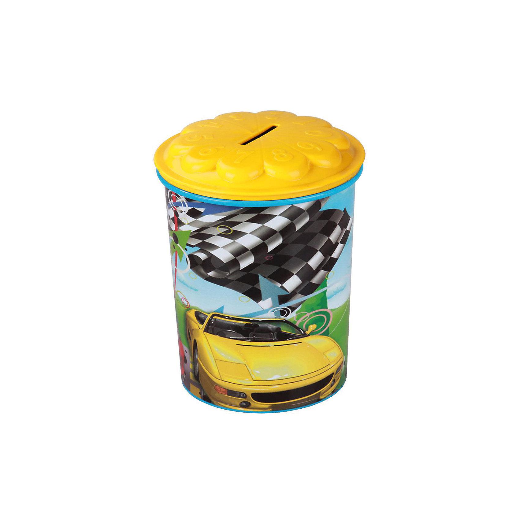 Контейнер (копилка) Форсаж 0,7л, AlternativaХарактеристики:<br><br>• Предназначение: для хранения монет, принадлежностей для рисования<br>• Материал: пластик<br>• Цвет: голубой, желтый, зеленый, черный<br>• Размер (Д*Ш*В): 10,3*10,1*13,2 см<br>• Вместимость (объем): 0,7 л<br>• Форма: круглый<br>• Наличие крышки с отверстием по центру<br>• Особенности ухода: разрешается мыть теплой водой<br><br>Контейнер (копилка) Форсаж 0,7 л , Alternativa изготовлен отечественным производителем ООО ЗПИ Альтернатива, который специализируется на выпуске широкого спектра изделий из пластика. <br>Контейнер-копилка выполнена из экологически безопасного пластика, устойчивого к механическим повреждениям, корпус оформлен ярким рисунком, в комплекте имеется крышкажелтого цвета с отверстием по центру, что обеспечит многоразовое использование копилки. Без крышки контейнер можно использовать как стаканчик для хранения карандашей и фломастеров. <br><br>Контейнер (копилка) Форсаж 0,7 л, Alternativa можно купить в нашем интернет-магазине.<br><br>Ширина мм: 260<br>Глубина мм: 170<br>Высота мм: 140<br>Вес г: 71<br>Возраст от месяцев: 6<br>Возраст до месяцев: 84<br>Пол: Мужской<br>Возраст: Детский<br>SKU: 5096581