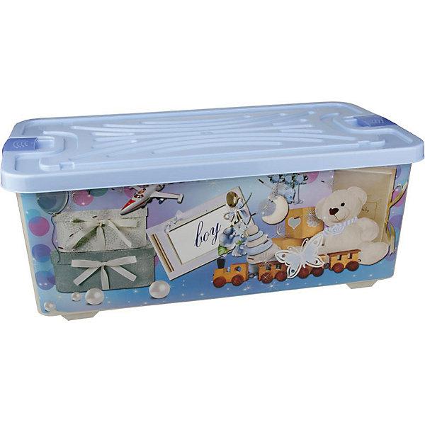 Контейнер для игрушек Boy (прямоугольный) 75л. , AlternativaЯщики для игрушек<br>Характеристики:<br><br>• Предназначение: для хранения игрушек<br>• Материал: пластик<br>• Цвет: голубой, белый, серый, коричневый<br>• Размер (Д*Ш*В): 78*42,5*30 см<br>• Вместимость (объем): 75 л<br>• Форма: прямоугольныйольный<br>• Наличие крышки с замочком-клипсами<br>• Особенности ухода: разрешается мыть теплой водой<br><br>Контейнер для игрушек Boy (прямоугольный) 75 л., Alternativa изготовлен отечественным производителем ООО ЗПИ Альтернатива, который специализируется на выпуске широкого спектра изделий из пластика. <br>Контейнер выполнен из экологически безопасного пластика, устойчивого к механическим повреждениям, корпус оформлен рисунком детской тематики в голубых тонах, в комплекте имеется крышка голубого цвета. Изделие позволит обеспечить не только порядок в комнате ребенка, но и станет ярким предметом интерьера. Контейнер для игрушек Boy (прямоугольный) 75л., Alternativa вместительный, но при этом обладает легким весом.<br><br>Контейнер для игрушек Boy (прямоугольный) 75л., Alternativa можно купить в нашем интернет-магазине.<br><br>Ширина мм: 770<br>Глубина мм: 415<br>Высота мм: 290<br>Вес г: 2518<br>Возраст от месяцев: 6<br>Возраст до месяцев: 84<br>Пол: Унисекс<br>Возраст: Детский<br>SKU: 5096583