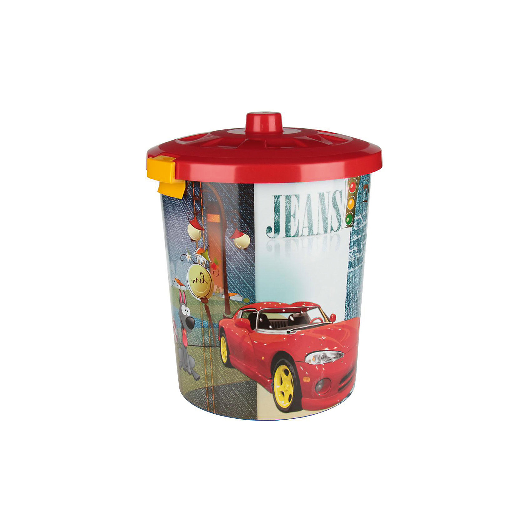 Контейнер для игрушек Гонки (круглый) 40л., AlternativaПорядок в детской<br>Характеристики:<br><br>• Предназначение: для хранения игрушек<br>• Материал: пластик<br>• Цвет: красный, желтый, голубой, серый<br>• Размер (Д*Ш*В): 40*40*54 см<br>• Вместимость (объем): 40 л<br>• Форма: круглый<br>• Наличие крышки с замочками-клипсами<br>• Особенности ухода: разрешается мыть теплой водой<br><br>Контейнер для игрушек Гонки (круглый) 40 л., Alternativa изготовлен отечественным производителем ООО ЗПИ Альтернатива, который специализируется на выпуске широкого спектра изделий из пластика. <br>Контейнер выполнен из экологически безопасного пластика, устойчивого к механическим повреждениям, корпус оформлен рисунком сюжетной картинкой гоночной тематики, в комплекте имеется крышка красного цвета. Изделие позволит обеспечить не только порядок в комнате ребенка, но и станет ярким предметом интерьера. Контейнер для игрушек Гонки (круглый) 40 л., Alternativa вместительный, но при этом обладает легким весом.<br><br>Контейнер для игрушек Гонки (круглый) 40 л., Alternativa можно купить в нашем интернет-магазине.<br><br>Ширина мм: 400<br>Глубина мм: 400<br>Высота мм: 540<br>Вес г: 1320<br>Возраст от месяцев: 6<br>Возраст до месяцев: 84<br>Пол: Мужской<br>Возраст: Детский<br>SKU: 5096585