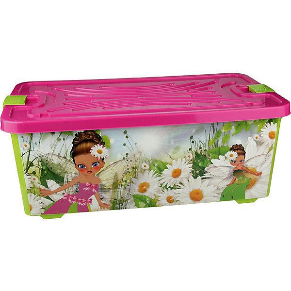 Контейнер для игрушек Феи (прямоугольный) 75л., AlternativaЯщики для игрушек<br>Характеристики:<br><br>• Предназначение: для хранения игрушек<br>• Материал: пластик<br>• Цвет: розовый, желтый, зеленый<br>• Размер (Д*Ш*В): 78*42,5*30 см<br>• Вместимость (объем): 75 л<br>• Форма: прямоугольныйольный<br>• Наличие крышки <br>• Особенности ухода: разрешается мыть теплой водой<br><br>Контейнер Фея 75 л с крышкой, Alternativa изготовлен отечественным производителем ООО ЗПИ Альтернатива, который специализируется на выпуске широкого спектра изделий из пластика. <br>Контейнер выполнен из экологически безопасного пластика, устойчивого к механическим повреждениям, корпус оформлен ярким рисунком, в комплекте имеется крышка яркого розового цвета. Изделие позволит обеспечить не только порядок в комнате ребенка, но и станет ярким предметом интерьера. Контейнер Фея 75 л с крышкой, Alternativa вместительный, но при этом обладает легким весом.<br><br>Контейнер Фея 75 л с крышкой, Alternativa можно купить в нашем интернет-магазине.<br>Ширина мм: 780; Глубина мм: 300; Высота мм: 300; Вес г: 2518; Возраст от месяцев: 6; Возраст до месяцев: 84; Пол: Женский; Возраст: Детский; SKU: 5096586;