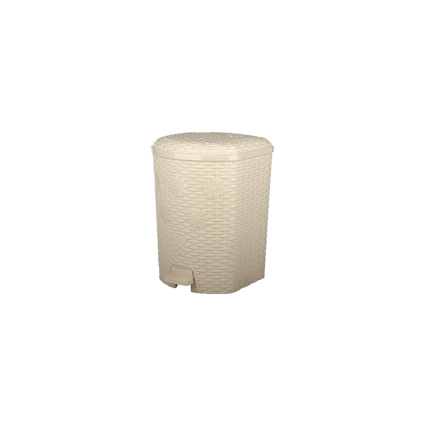 Контейнер для мусора Плетёнка 12л., Alternativa, слоновая костьМусорные ведра<br>Характеристики:<br><br>• Предназначение: для мусора<br>• Материал: пластик<br>• Цвет: слоновая кость<br>• Размер (Д*Ш*В): 22,8*22,5*33,6 см<br>• Вместимость (объем): 12 л<br>• Форма: прямоугольный<br>• Наличие крышки <br>• Наличие педали<br>• Наличие внутреннего контейнера-вкладыша с ручкой<br>• Особенности ухода: разрешается мыть теплой водой<br><br>Контейнер для мусора Плетёнка 12 л., Alternativa, слоновая кость изготовлен отечественным производителем ООО ЗПИ Альтернатива, который специализируется на выпуске широкого спектра изделий из пластика. Контейнер выполнен из экологически безопасного пластика, устойчивого к механическим повреждениям, корпус оформлен имитацией плетения из лозы, в комплекте внутренний контейнер-вкладыш с ручкой и педаль для подъма крышки. Изделие имеет удобную форму, достаточно легкое в уходе. Контейнер для мусора Плетёнка 12 л., Alternativa, слоновая кость позволит поддерживать порядок дома без особого труда.<br><br>Контейнер для мусора Плетёнка 12 л., Alternativa, слоновая кость можно купить в нашем интернет-магазине.<br><br>Ширина мм: 228<br>Глубина мм: 225<br>Высота мм: 336<br>Вес г: 1323<br>Возраст от месяцев: 6<br>Возраст до месяцев: 84<br>Пол: Унисекс<br>Возраст: Детский<br>SKU: 5096591