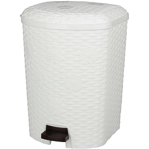 Контейнер для мусора Плетёнка 12л, Alternativa, белыйМусорные ведра<br>Характеристики:<br><br>• Предназначение: для мусора<br>• Материал: пластик<br>• Цвет: белый<br>• Размер (Д*Ш*В): 22,8*22,5*33,6 см<br>• Вместимость (объем): 12 л<br>• Форма: прямоугольный<br>• Наличие крышки <br>• Наличие педали<br>• Наличие внутреннего контейнера-вкладыша с ручкой<br>• Особенности ухода: разрешается мыть теплой водой<br><br>Контейнер для мусора Плетёнка 12 л., Alternativa, белый изготовлен отечественным производителем ООО ЗПИ Альтернатива, который специализируется на выпуске широкого спектра изделий из пластика. Контейнер выполнен из экологически безопасного пластика, устойчивого к механическим повреждениям, корпус оформлен имитацией плетения из лозы, в комплекте внутренний контейнер-вкладыш с ручкой и педаль для подъма крышки. Изделие имеет удобную форму, достаточно легкое в уходе. Контейнер для мусора Плетёнка 12 л., Alternativa, белый позволит поддерживать порядок дома без особого труда.<br><br>Контейнер для мусора Плетёнка 12 л., Alternativa, белый можно купить в нашем интернет-магазине.<br><br>Ширина мм: 228<br>Глубина мм: 225<br>Высота мм: 336<br>Вес г: 1323<br>Возраст от месяцев: 6<br>Возраст до месяцев: 84<br>Пол: Женский<br>Возраст: Детский<br>SKU: 5096592