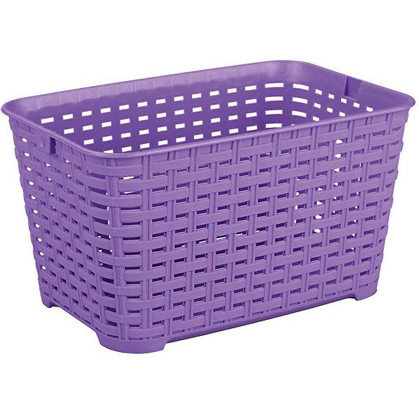 Корзина Плетёнка прямоугольная 3л.(без ручки), Alternativa, фиолетовыйЯщики для игрушек<br>Характеристики:<br><br>• Предназначение: для хозяйственных нужд<br>• Материал: пластик<br>• Цвет: фиолетовый<br>• Размер (Д*Ш*В): 23*16*13 см<br>• Объем: 3 л<br>• Форма: прямоугольный<br>• Особенности ухода: разрешается мыть теплой водой<br><br>Корзина Плетёнка прямоугольная 3 л. (без ручки), Alternativa, фиолетовый изготовлена отечественным производителем ООО ЗПИ Альтернатива, который специализируется на выпуске широкого спектра изделий из пластика. Контейнер выполнен из экологически безопасного пластика, устойчивого к механическим повреждениям, корпус оформлен имитацией плетения из лозы с крупными отверстиями. Изделие имеет удобную форму, достаточно легкое в уходе. Корзина Плетёнка прямоугольная 3 л. (без ручки), Alternativa, фиолетовую можно использовать для хранения различных мелочей.<br><br>Корзину Плетёнка прямоугольная 3 л. (без ручки), Alternativa, фиолетовую можно купить в нашем интернет-магазине.<br><br>Ширина мм: 230<br>Глубина мм: 160<br>Высота мм: 130<br>Вес г: 144<br>Возраст от месяцев: 6<br>Возраст до месяцев: 84<br>Пол: Унисекс<br>Возраст: Детский<br>SKU: 5096607