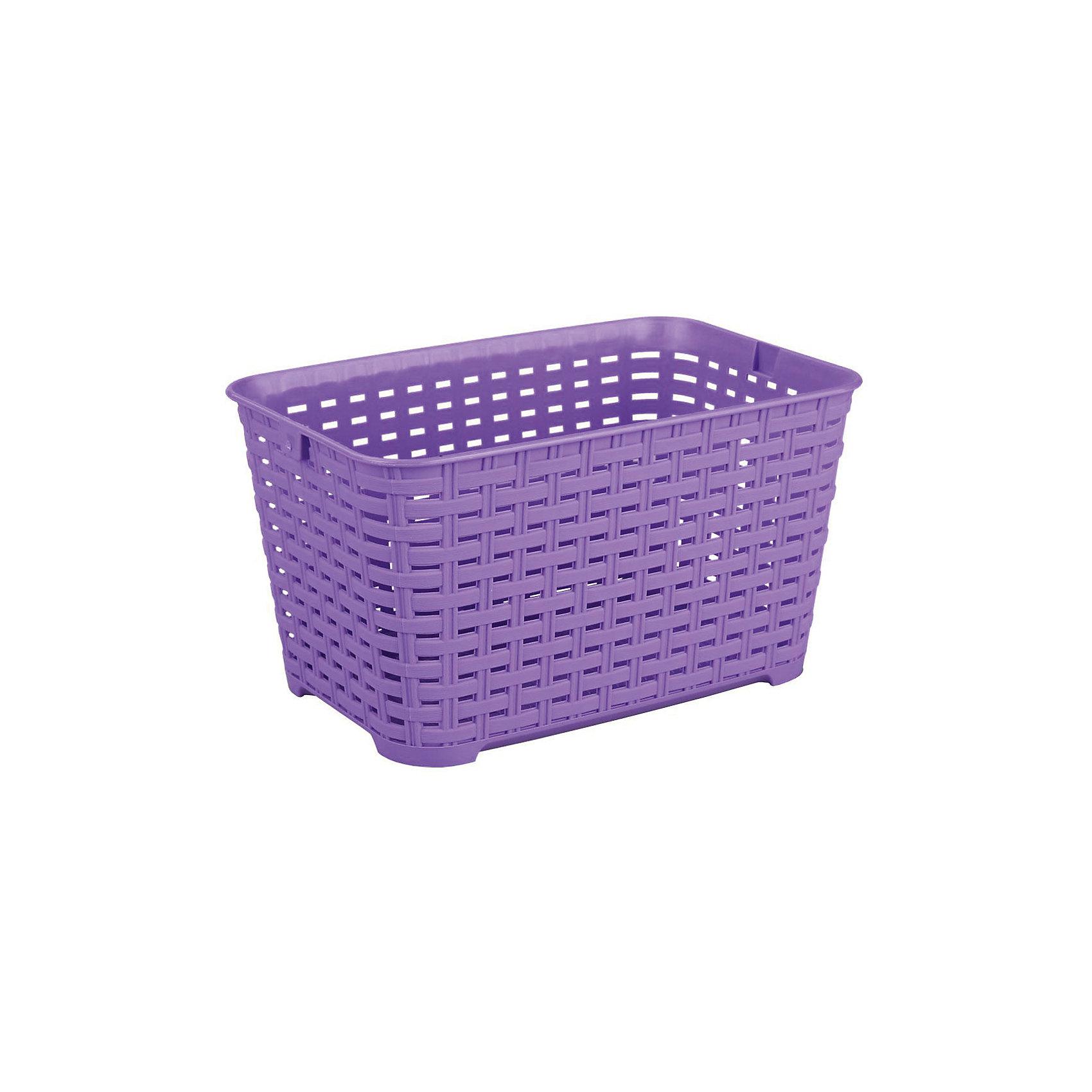 Корзина Плетёнка прямоугольная 3л.(без ручки), Alternativa, фиолетовыйПорядок в детской<br>Характеристики:<br><br>• Предназначение: для хозяйственных нужд<br>• Материал: пластик<br>• Цвет: фиолетовый<br>• Размер (Д*Ш*В): 23*16*13 см<br>• Объем: 3 л<br>• Форма: прямоугольный<br>• Особенности ухода: разрешается мыть теплой водой<br><br>Корзина Плетёнка прямоугольная 3 л. (без ручки), Alternativa, фиолетовый изготовлена отечественным производителем ООО ЗПИ Альтернатива, который специализируется на выпуске широкого спектра изделий из пластика. Контейнер выполнен из экологически безопасного пластика, устойчивого к механическим повреждениям, корпус оформлен имитацией плетения из лозы с крупными отверстиями. Изделие имеет удобную форму, достаточно легкое в уходе. Корзина Плетёнка прямоугольная 3 л. (без ручки), Alternativa, фиолетовую можно использовать для хранения различных мелочей.<br><br>Корзину Плетёнка прямоугольная 3 л. (без ручки), Alternativa, фиолетовую можно купить в нашем интернет-магазине.<br><br>Ширина мм: 230<br>Глубина мм: 160<br>Высота мм: 130<br>Вес г: 144<br>Возраст от месяцев: 6<br>Возраст до месяцев: 84<br>Пол: Унисекс<br>Возраст: Детский<br>SKU: 5096607