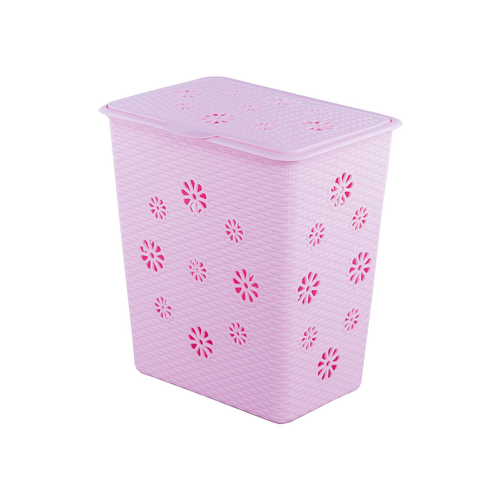 Корзина для белья Плетёнка 60л. , Alternativa, розовыйКорзины для белья<br>Характеристики:<br><br>• Предназначение: для белья<br>• Материал: пластик<br>• Цвет: розовый<br>• Размер (Д*Ш*В): 34*46*50,5 см<br>• Форма: прямоугольный<br>• Объем: 60 л<br>• Наличие крышки<br>• Особенности ухода: разрешается мыть теплой водой<br><br>Корзина для белья Плетёнка 60 л., Alternativa, розовый изготовлена отечественным производителем ООО ЗПИ Альтернатива, который специализируется на выпуске широкого спектра изделий из пластика. Корзина выполнена из экологически безопасного пластика, устойчивого к механическим повреждениям, корпус оформлен имитацией плетения из лозы, по сторонам корзины имеются отверстия в форме цветов, которые обеспечивают циркуляцию воздуха, в комплекте предусмотрена крышка. Изделие имеет удобную форму, достаточно легкое в уходе. Корзину для белья Плетёнка 60 л., Alternativa, розовую можно использовать не только для белья, но и для хранения игрушек.<br><br>Корзину для белья Плетёнка 60 л., Alternativa, розовую можно купить в нашем интернет-магазине.<br><br>Ширина мм: 340<br>Глубина мм: 460<br>Высота мм: 505<br>Вес г: 2007<br>Возраст от месяцев: -2147483648<br>Возраст до месяцев: 2147483647<br>Пол: Женский<br>Возраст: Детский<br>SKU: 5096610