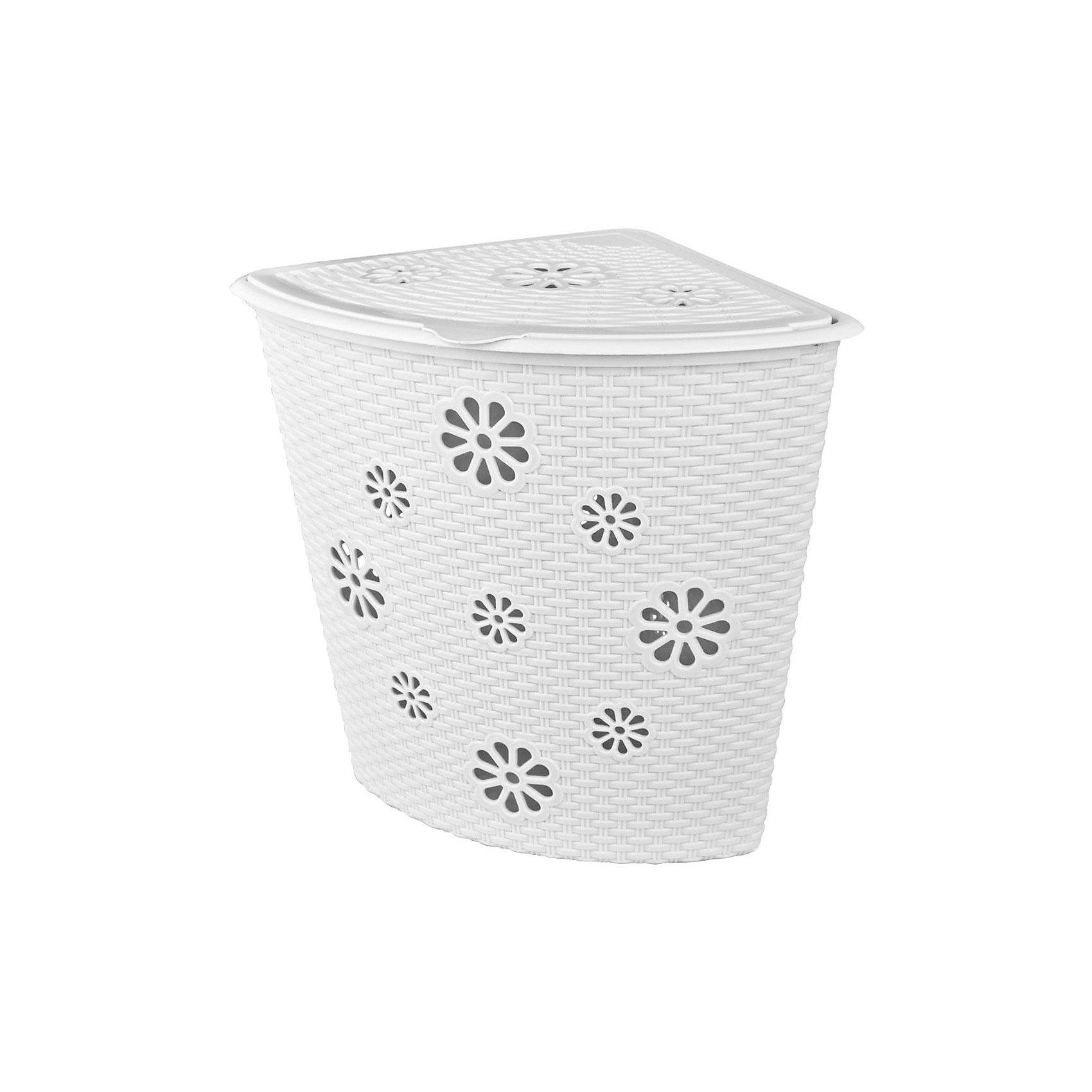 Alternativa Корзина для белья Плетёнка(500х385х460), Alternativa, белый корзина для белья сорренто 45л белый м1708