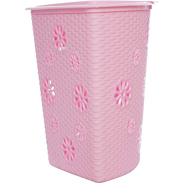 Корзина для белья Плетёнка (500х385х460), Alternativa, розовый, Россия, Женский  - купить со скидкой
