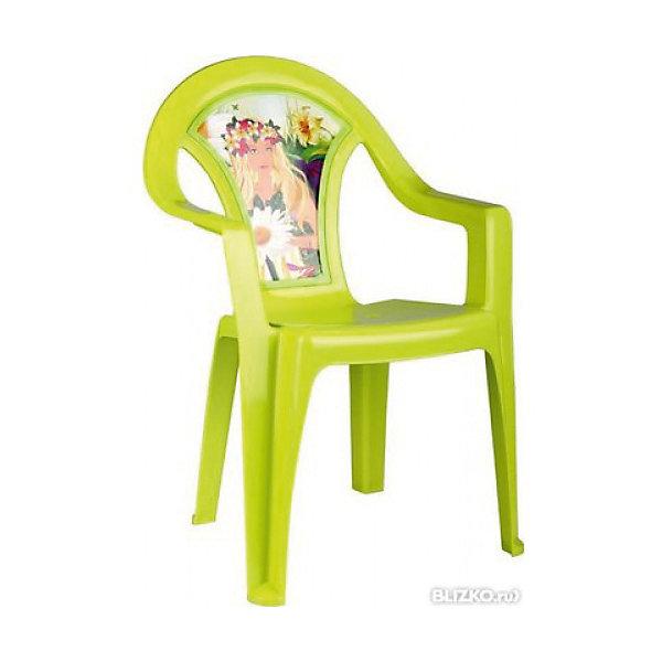 Кресло детское Лесная нимфа, AlternativaДетские столы и стулья<br>Характеристики:<br><br>• Предназначение: для дома, для дачи<br>• Пол: для девочки<br>• Материал: пластик<br>• Цвет: зеленый<br>• Размер (Д*Ш*В): 40*40*57 см<br>• Вес: 850 г<br>• Особенности ухода: разрешается мыть теплой водой<br><br>Кресло детское Лесная нимфа, Alternativa изготовлено отечественным производителем ООО ЗПИ Альтернатива, который специализируется на выпуске широкого спектра изделий из пластика. Стульчик выполнен из безопасного нетоксичного, но прочного пластика. Он имеет устойчивую форму за счет широко расставленных ножек. Для удобства предусмотрена широкая и высокая спинка, а также подлокотники. Стульчик имеет компактную форму и легкий вес, поэтому его удобно использовать не только дома, но и на даче. Стульчик предназначен для детей, которые уже умеют уверенно сидеть, его можно использовать для кормления или занятий за столом. Стульчик имеет яркую окраску и декор на спинке в виде лесной нимфы.<br><br>Кресло детское Лесная нимфа, Alternativa можно купить в нашем интернет-магазине.<br>Ширина мм: 400; Глубина мм: 400; Высота мм: 570; Вес г: 805; Возраст от месяцев: 6; Возраст до месяцев: 84; Пол: Женский; Возраст: Детский; SKU: 5096625;