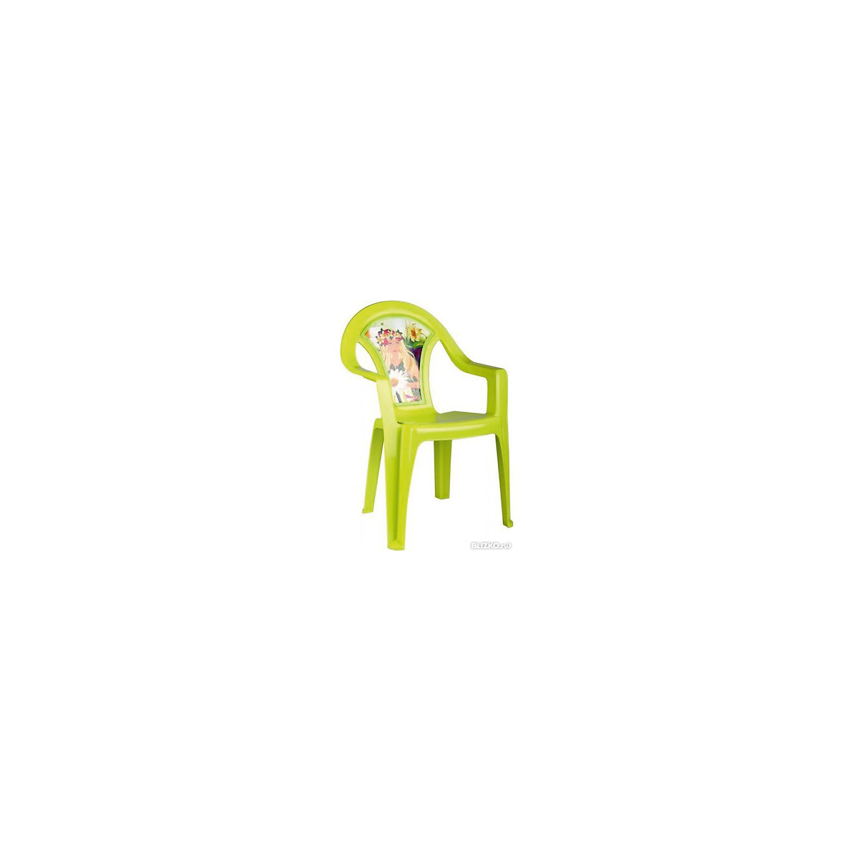 Кресло детское Лесная нимфа, AlternativaХарактеристики:<br><br>• Предназначение: для дома, для дачи<br>• Пол: для девочки<br>• Материал: пластик<br>• Цвет: зеленый<br>• Размер (Д*Ш*В): 40*40*57 см<br>• Вес: 850 г<br>• Особенности ухода: разрешается мыть теплой водой<br><br>Кресло детское Лесная нимфа, Alternativa изготовлено отечественным производителем ООО ЗПИ Альтернатива, который специализируется на выпуске широкого спектра изделий из пластика. Стульчик выполнен из безопасного нетоксичного, но прочного пластика. Он имеет устойчивую форму за счет широко расставленных ножек. Для удобства предусмотрена широкая и высокая спинка, а также подлокотники. Стульчик имеет компактную форму и легкий вес, поэтому его удобно использовать не только дома, но и на даче. Стульчик предназначен для детей, которые уже умеют уверенно сидеть, его можно использовать для кормления или занятий за столом. Стульчик имеет яркую окраску и декор на спинке в виде лесной нимфы.<br><br>Кресло детское Лесная нимфа, Alternativa можно купить в нашем интернет-магазине.<br><br>Ширина мм: 400<br>Глубина мм: 400<br>Высота мм: 570<br>Вес г: 805<br>Возраст от месяцев: 6<br>Возраст до месяцев: 84<br>Пол: Женский<br>Возраст: Детский<br>SKU: 5096625