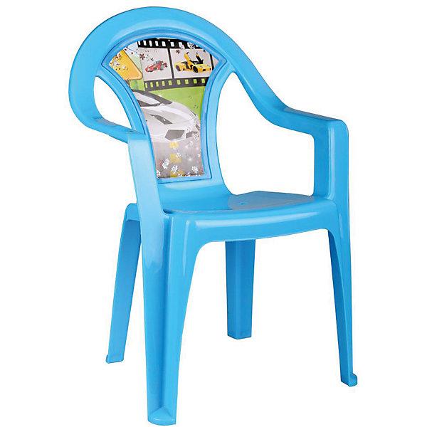 Кресло детское Форсаж, AlternativaДетские столы и стулья<br>Характеристики:<br><br>• Предназначение: для дома, для дачи<br>• Пол: для мальчика<br>• Материал: пластик<br>• Цвет: голубой<br>• Размер (Д*Ш*В): 40*40*57 см<br>• Вес: 850 г<br>• Особенности ухода: разрешается мыть теплой водой<br><br>Кресло детское Форсаж, Alternativa изготовлено отечественным производителем ООО ЗПИ Альтернатива, который специализируется на выпуске широкого спектра изделий из пластика. Стульчик выполнен из безопасного нетоксичного, но прочного пластика. Он имеет устойчивую форму за счет широко расставленных ножек. Для удобства предусмотрена широкая и высокая спинка, а также подлокотники. Стульчик имеет компактную форму и легкий вес, поэтому его удобно использовать не только дома, но и на даче. Стульчик предназначен для детей, которые уже умеют уверенно сидеть, его можно использовать для кормления или занятий за столом. Стульчик имеет яркую окраску и декор на спинке с героями мультсериала Тачки.<br><br>Кресло детское Форсаж, Alternativa можно купить в нашем интернет-магазине.<br><br>Ширина мм: 400<br>Глубина мм: 400<br>Высота мм: 570<br>Вес г: 805<br>Возраст от месяцев: 6<br>Возраст до месяцев: 84<br>Пол: Мужской<br>Возраст: Детский<br>SKU: 5096628