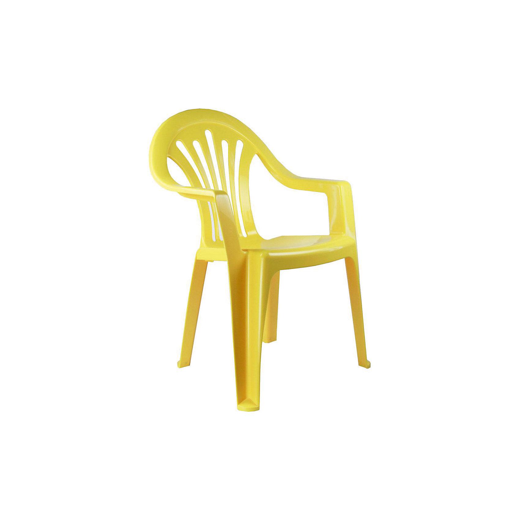 Кресло детское, Alternativa, жёлтыйХарактеристики:<br><br>• Предназначение: для дома, для дачи<br>• Пол: универсальный<br>• Материал: пластик<br>• Цвет: желтый<br>• Размер (Д*Ш*В): 37*57*35 см<br>• Вес: 850 г<br>• Особенности ухода: разрешается мыть теплой водой<br><br>Кресло детское, Alternativa, желтый изготовлено отечественным производителем ООО ЗПИ Альтернатива, который специализируется на выпуске широкого спектра изделий из пластика. Стульчик выполнен из безопасного нетоксичного, но прочного пластика. Он имеет устойчивую форму за счет широко расставленных ножек. Для удобства предусмотрена широкая и высокая спинка, а также подлокотники. Стульчик имеет компактную форму и легкий вес, поэтому его удобно использовать не только дома, но и на даче. Стульчик предназначен для детей, которые уже умеют уверенно сидеть, его можно использовать для кормления или занятий за столом. Стульчик имеет яркую окраску и декор на спинке.<br><br>Кресло детское, Alternativa, желтый можно купить в нашем интернет-магазине.<br><br>Ширина мм: 370<br>Глубина мм: 350<br>Высота мм: 570<br>Вес г: 760<br>Возраст от месяцев: 6<br>Возраст до месяцев: 84<br>Пол: Унисекс<br>Возраст: Детский<br>SKU: 5096630