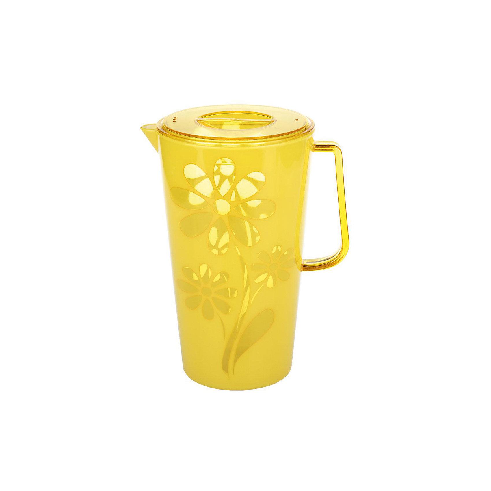 Кувшин Соблазн 2,5л. с крышкой , Alternativa, жёлтыйПосуда<br>Кувшин Соблазн 2,5л с крышкой , Alternativa, жёлтый предназначен для различных напитков. Лн имеет удобную форму ручки и специальный носик, для слива жидкости. Крышка не позволит жидкости разлиться. Яркий цвет с дизайном цветка станет украшением для вашей кухни.<br><br>Дополнительная информация:<br> -Объём: 2,5 л<br> -Цвет: жёлтый<br> -Марка: Alternativa<br><br>Кувшин Соблазн 2,5л с крышкой , Alternativa, жёлтый вы можете приобрести в нашем интернет-магазине.<br><br>Ширина мм: 145<br>Глубина мм: 195<br>Высота мм: 240<br>Вес г: 506<br>Возраст от месяцев: 6<br>Возраст до месяцев: 588<br>Пол: Унисекс<br>Возраст: Детский<br>SKU: 5096640
