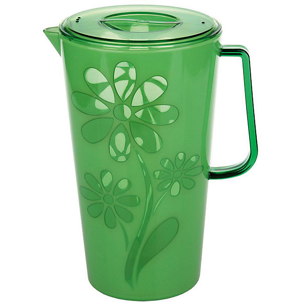 Кувшин Соблазн 2,5л. с крышкой , Alternativa, зелёныйКухонная утварь<br>Кувшин Соблазн 2,5л с крышкой , Alternativa, зелёный предназначен для различных напитков. Он имеет удобную форму ручки и специальный носик, для слива жидкости. Крышка не позволит жидкости разлиться. Яркий цвет с дизайном цветка станет украшением для вашей кухни.<br><br>Дополнительная информация:<br> -Объём: 2,5 л<br> -Цвет: зелёный<br> -Марка: Alternativa<br><br>Кувшин Соблазн 2,5л с крышкой , Alternativa, зелёный вы можете приобрести в нашем интернет-магазине.<br><br>Ширина мм: 145<br>Глубина мм: 195<br>Высота мм: 240<br>Вес г: 506<br>Возраст от месяцев: 6<br>Возраст до месяцев: 588<br>Пол: Унисекс<br>Возраст: Детский<br>SKU: 5096641