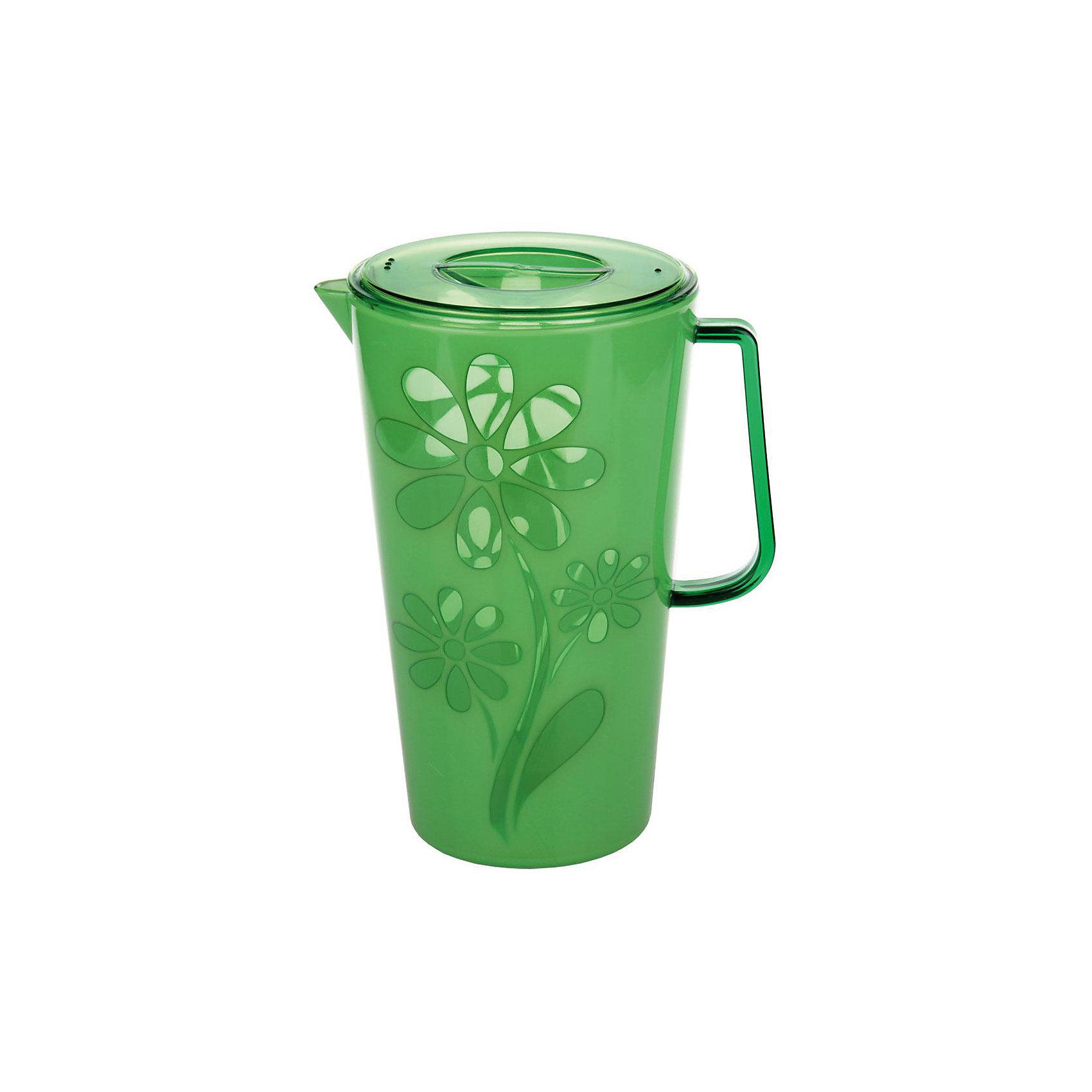 Кувшин Соблазн 2,5л. с крышкой , Alternativa, зелёныйПосуда<br>Кувшин Соблазн 2,5л с крышкой , Alternativa, зелёный предназначен для различных напитков. Он имеет удобную форму ручки и специальный носик, для слива жидкости. Крышка не позволит жидкости разлиться. Яркий цвет с дизайном цветка станет украшением для вашей кухни.<br><br>Дополнительная информация:<br> -Объём: 2,5 л<br> -Цвет: зелёный<br> -Марка: Alternativa<br><br>Кувшин Соблазн 2,5л с крышкой , Alternativa, зелёный вы можете приобрести в нашем интернет-магазине.<br><br>Ширина мм: 145<br>Глубина мм: 195<br>Высота мм: 240<br>Вес г: 506<br>Возраст от месяцев: 6<br>Возраст до месяцев: 588<br>Пол: Унисекс<br>Возраст: Детский<br>SKU: 5096641