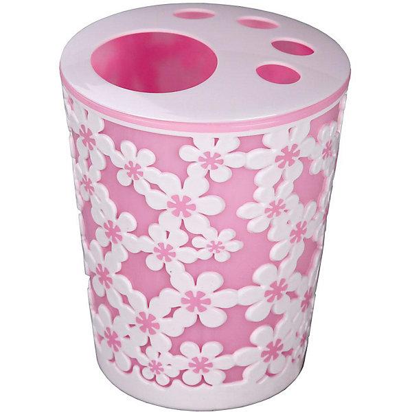 Купить Подставка Дольче Вита для зубных щеток, Alternativa, розовый-белый, Россия, Женский