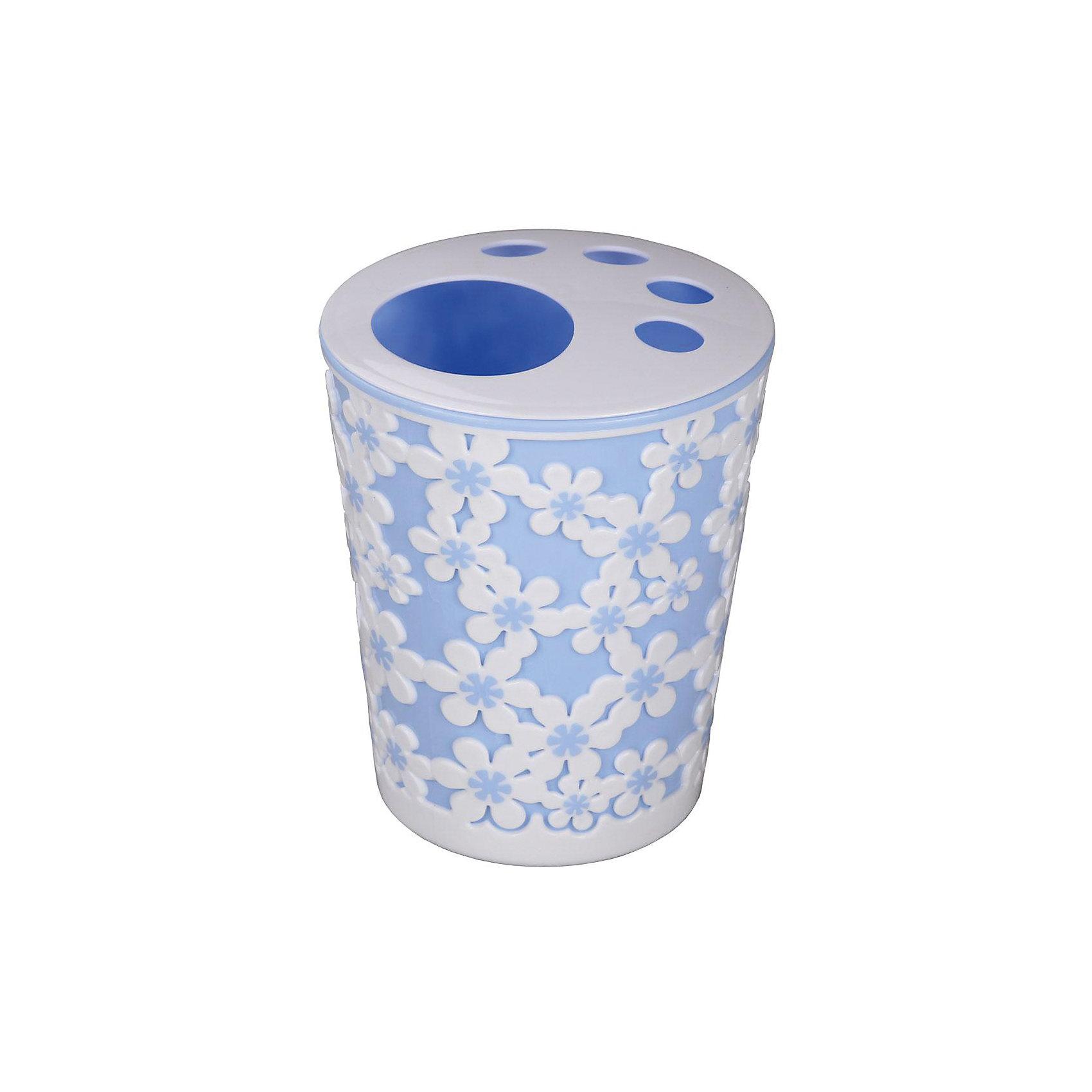 Alternativa Подставка Дольче Витадля зубных щеток, Alternativa, голубой-белый стаканчик для зубных щеток wasserkraft wern 7528 9060516