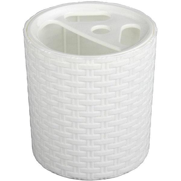 Купить Подставка Плетёнка для зубных щёток, Alternativa, белый, Россия, Унисекс