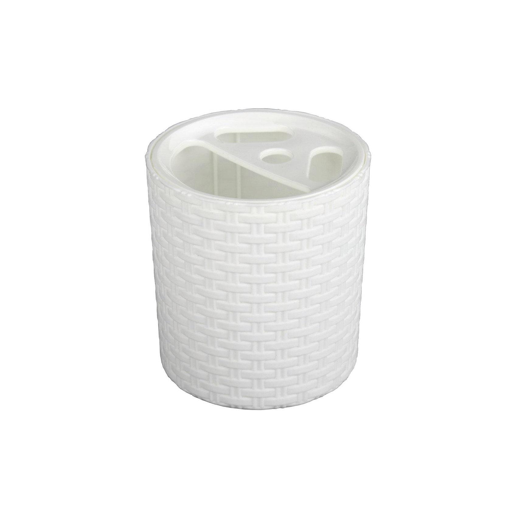 Alternativa Подставка Плетёнка для зубных щёток, Alternativa, белый trio стакан для зубных щёток