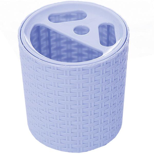 Купить Подставка Плетёнка для зубных щёток, Alternativa, голубой, Россия, Мужской