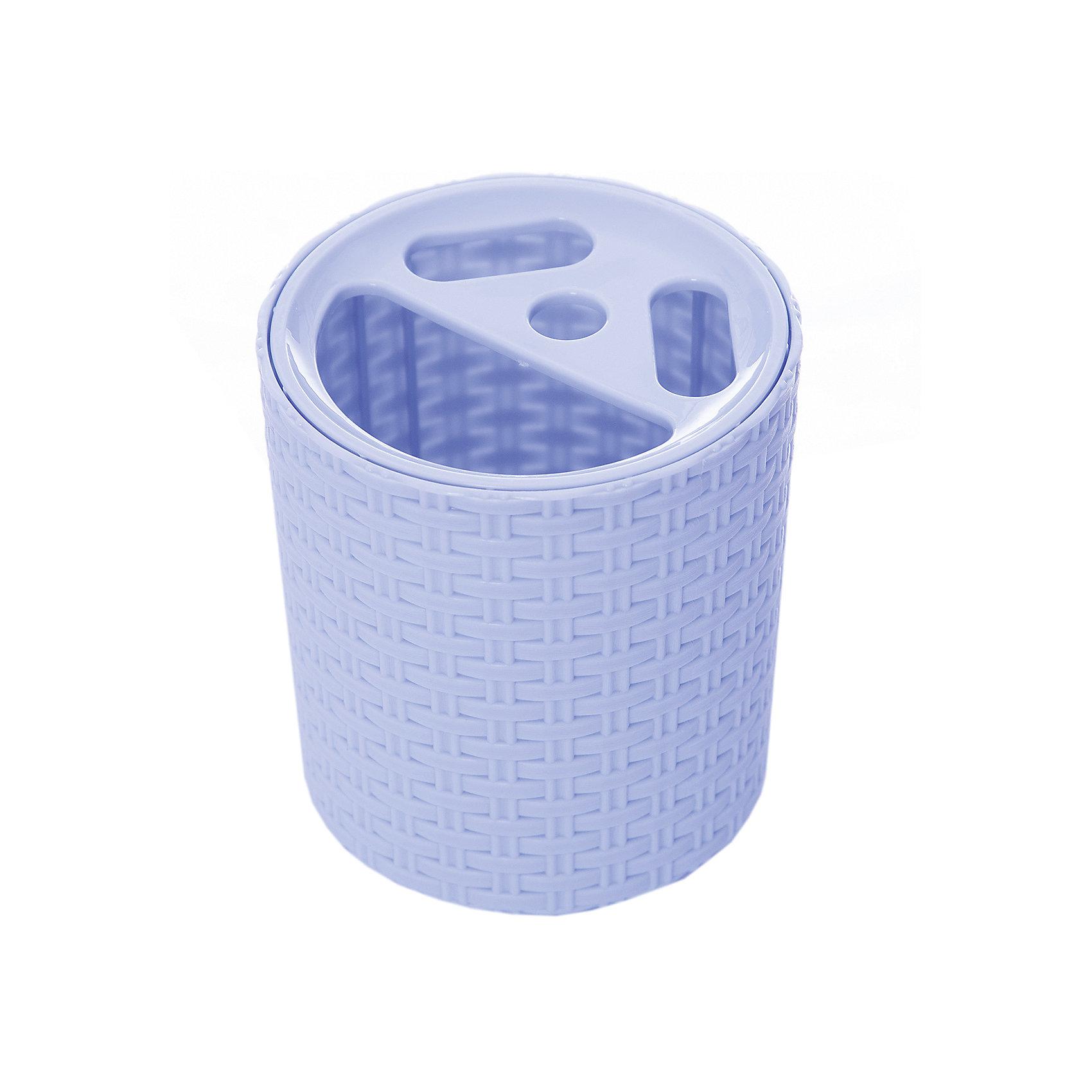 Alternativa Подставка Плетёнка для зубных щёток , Alternativa, голубой стаканчик для зубных щеток wasserkraft wern 7528 9060516