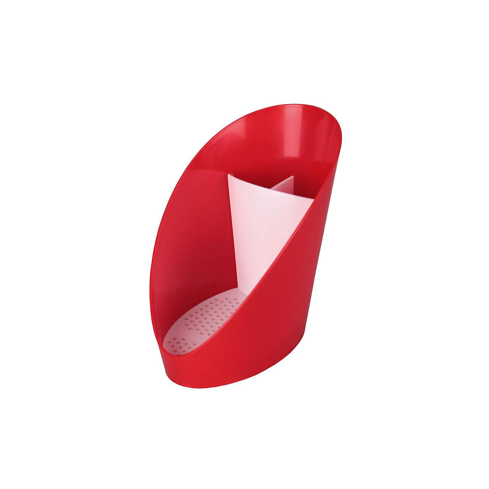 Подставка для моющих средств Изыск , Alternativa, красныйВанная комната<br>Характеристики:<br><br>• Предназначение: для хранения моющих средств<br>• Материал: пластик<br>• Цвет: красный, белый<br>• Размер (Д*Ш*В): 48*24*38 см<br>• Форма: овальная<br>• Наличие съемного поддона<br>• Особенности ухода: разрешается мыть теплой водой<br><br>Подставка для моющих средств Изыск, Alternativa, красный изготовлена отечественным производителем ООО ЗПИ Альтернатива, который специализируется на выпуске широкого спектра изделий из пластика. Изделие выполнено из безопасного и прочного пластика, устойчивого к механическим повреждениям. Подставка имеет овальную форму оснащего съемным поддоном, благодаря которому изделие легко мыть. Поставка имеет три отсека. Внешний корпус выполнен в красном цвете, съемный поддон – белый. Подставка д\моющих средств Изыск, Alternativa, красный обеспечит порядок на кухне и ванной комнате.<br><br>Подставку для моющих средств Изыск, Alternativa, красную можно купить в нашем интернет-магазине.<br><br>Ширина мм: 107<br>Глубина мм: 150<br>Высота мм: 145<br>Вес г: 83<br>Возраст от месяцев: 6<br>Возраст до месяцев: 588<br>Пол: Унисекс<br>Возраст: Детский<br>SKU: 5096666
