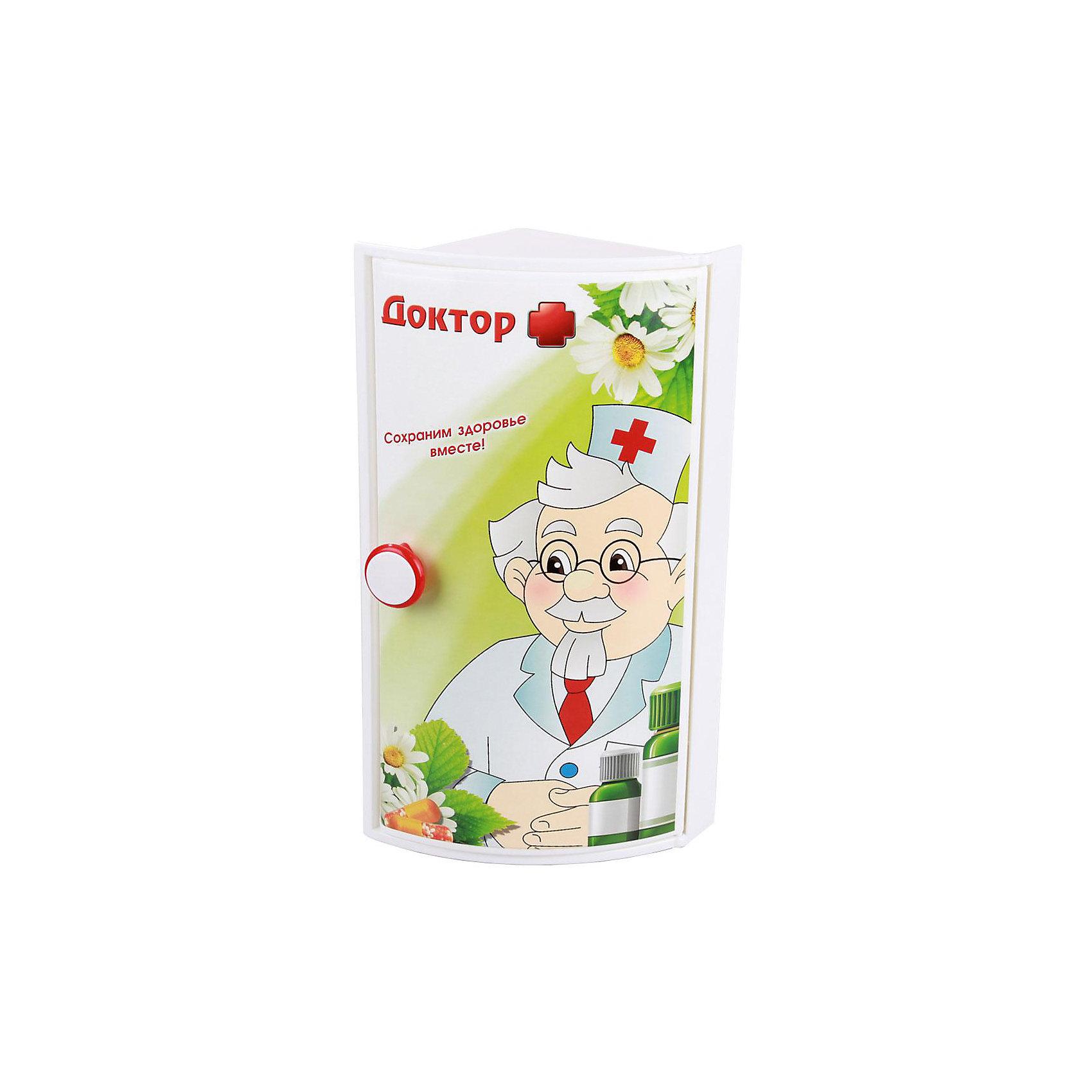 Полка для ванной  Доктор + (угловой), AlternativaТовары для купания<br>Характеристики:<br><br>• Предназначение: для ванной<br>• Материал: пластик<br>• Цвет: красный, белый, зеленый<br>• Размер (Д*Ш*В): 16,5*17,5*38,5 см<br>• Форма: прямоугольный<br>• Наличие 3-х полок и дверц<br>• Особенности ухода: разрешается мыть теплой водой<br><br>Полка для ванной Доктор + (угловой), Alternativa изготовлена отечественным производителем ООО ЗПИ Альтернатива, который специализируется на выпуске широкого спектра изделий из пластика. Изделие выполнено из безопасного и прочного пластика, устойчивого к механическим повреждениям. Полка имеет угловую форму, 3 полки и 1 дверцу, которая оформлена ярким рисунком медицинской тематики. Полка для ванной Доктор + (угловой), Alternativa может не только обеспечить порядок на кухне, но и стать ярким предметом в детской комнате. <br><br>Полку для ванной Доктор + (угловой), Alternativa можно купить в нашем интернет-магазине.<br><br>Ширина мм: 380<br>Глубина мм: 170<br>Высота мм: 160<br>Вес г: 783<br>Возраст от месяцев: 6<br>Возраст до месяцев: 588<br>Пол: Унисекс<br>Возраст: Детский<br>SKU: 5096668