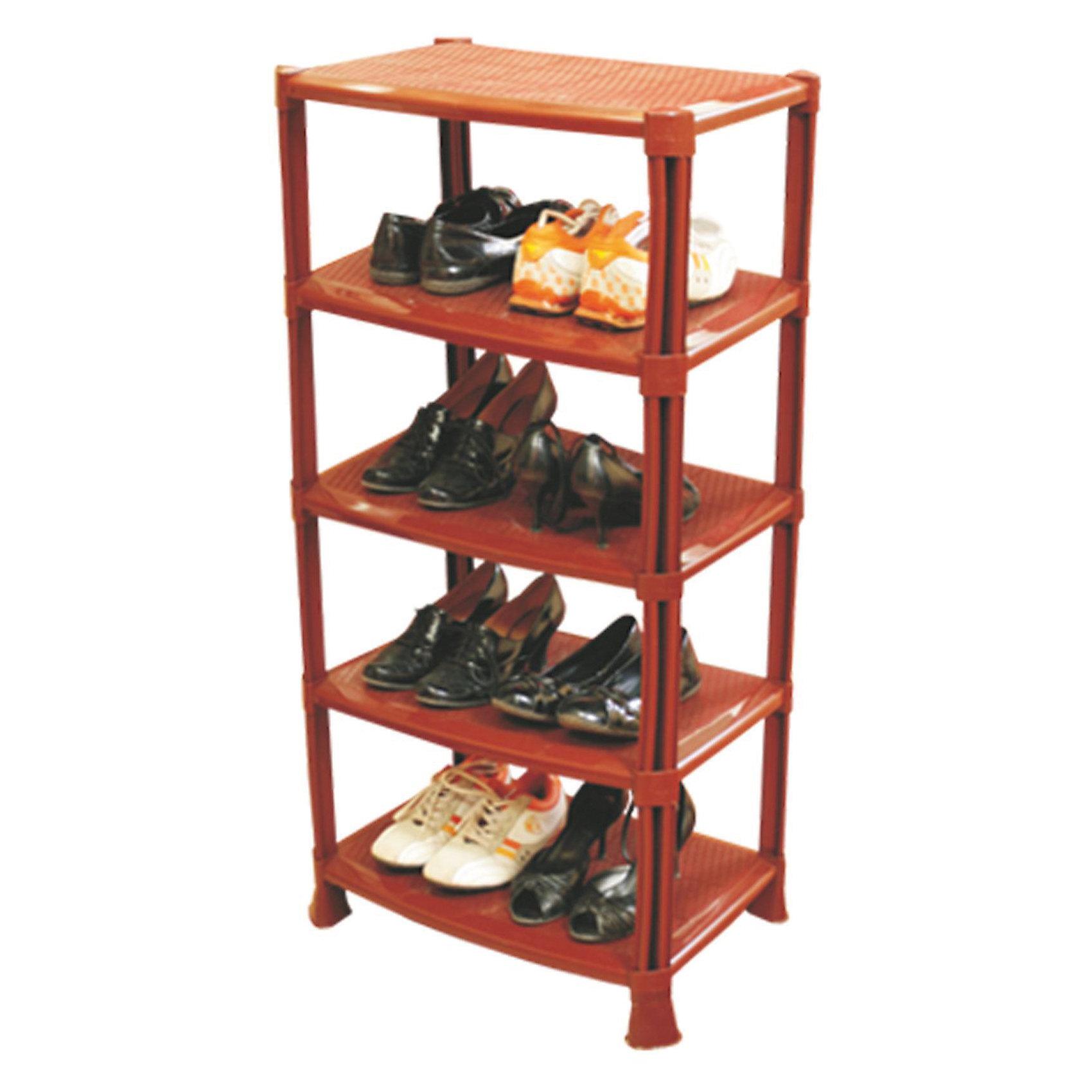 Полка для обуви (1008х510х350), AlternativaХарактеристики:<br><br>• Предназначение: для хранения обуви<br>• Материал: пластик<br>• Цвет: светло коричневый<br>• Размер (Д*Ш*В): 100,8 *51*35 см<br>• Форма: прямоугольный<br>• Предусмотрено 5 полок<br>• Особенности ухода: разрешается мыть теплой водой<br><br>Полка для обуви (1008х510х350), Alternativa изготовлена отечественным производителем ООО ЗПИ Альтернатива, который специализируется на выпуске широкого спектра изделий из пластика. Изделие выполнено из безопасного и прочного пластика, устойчивого к механическим повреждениям. Полка выполнена в форме этажерки, состоит из 5-ти широких полок. Изделие выполнено в светло-коричневом цвете, легкое в уходе. Полка для обуви (1008х510х350), Alternativa может быть использована не только для хранения обуви, но и для средств по уходу за обувью. <br><br>Полку для обуви (1008х510х350), Alternativa можно купить в нашем интернет-магазине.<br><br>Ширина мм: 510<br>Глубина мм: 350<br>Высота мм: 1010<br>Вес г: 2973<br>Возраст от месяцев: 6<br>Возраст до месяцев: 588<br>Пол: Унисекс<br>Возраст: Детский<br>SKU: 5096672