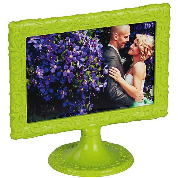 Рамка для фото, Alternativa, 10х15 Ажур горизонталь., Alternativa, зеленыйДетские предметы интерьера<br>Характеристики:<br><br>• Предназначение: для фотографий, вышивок, картинок<br>• Материал: пластик<br>• Цвет: зеленый <br>• Размер (Д*Ш*В):  12,5*8,5*21,5 см<br>• Для фото и картинок размером 10*15 см<br>• Наличие круглой подставки<br>• Декор: ажур<br>• Форма: прямоугольная, горизонтальная<br>• Особенности ухода: разрешается протирать влажной губкой<br><br>Рамка д\фото, Alternativa, 10х15 Ажур горизонталь., Alternativa, зеленый изготовлен отечественным производителем ООО ЗПИ Альтернатива, который специализируется на выпуске широкого спектра изделий и предметов мебели из пластика. Рамка выполнена из экологически безопасного материала, устойчивого к механическим повреждениям и изменению цвета. Имеет компактный размер, легкий вес, круглую устойчивую подставку и классическую прямоугольную форму. Рамка оформлена ажурным объемным декором. Рамку-поставку можно использовать не только для оформления фотографий, но и для вышивок или картинок, что позволит создать яркие детали вашего интерьера. Рамка д\фото, Alternativa, 10х15 Ажур горизонталь., Alternativa, зеленый может стать прекрасным решением для подарка к любому празднику.<br><br>Рамку д\фото, Alternativa, 10х15 Ажур горизонталь., Alternativa, зеленую можно купить в нашем интернет-магазине.<br><br>Ширина мм: 125<br>Глубина мм: 90<br>Высота мм: 215<br>Вес г: 57<br>Возраст от месяцев: 6<br>Возраст до месяцев: 84<br>Пол: Унисекс<br>Возраст: Детский<br>SKU: 5096677