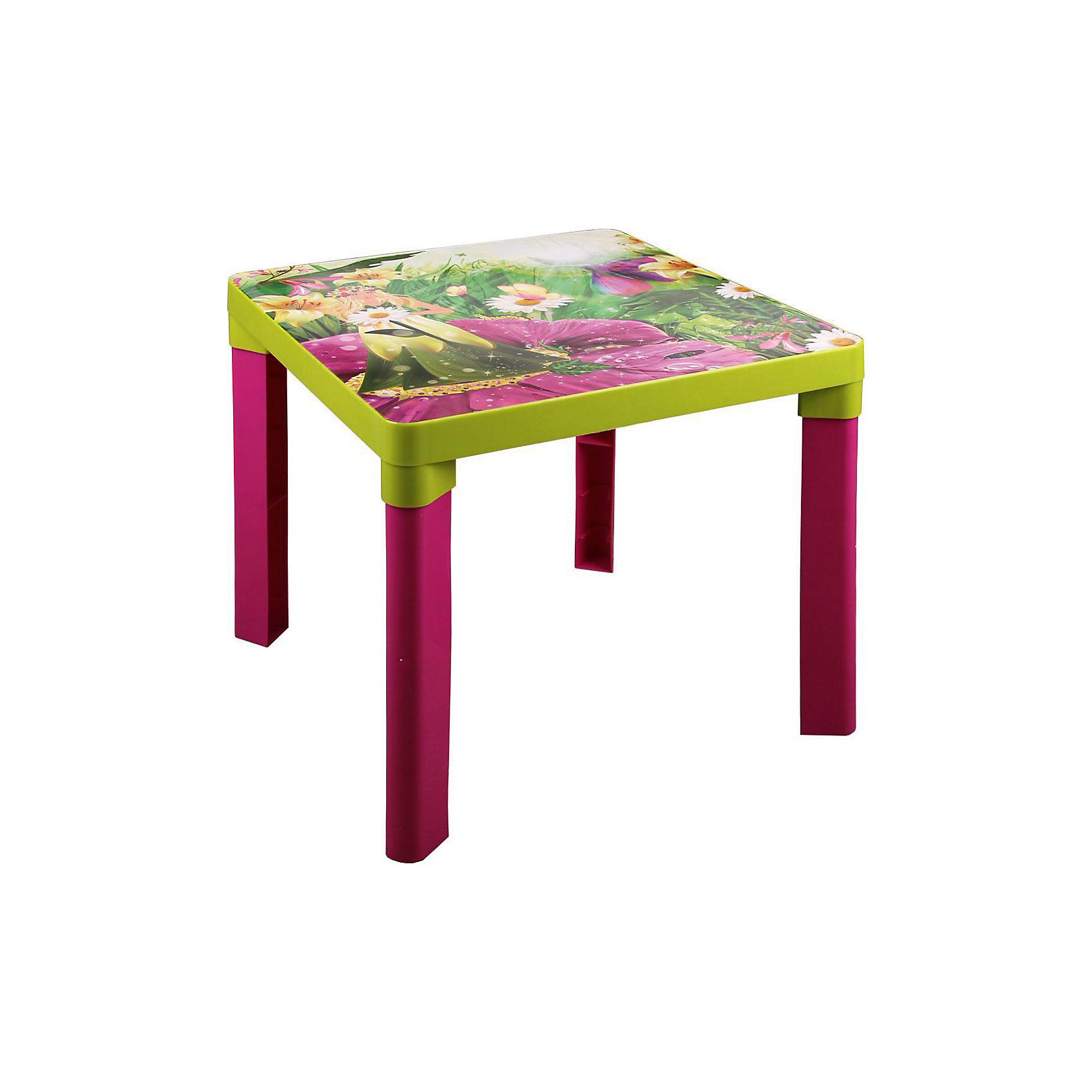 Стол детский Лесная нимфа , AlternativaМебель<br>Характеристики:<br><br>• Предназначение: для приема пищи, занятий или игр<br>• Материал: пластик<br>• Цвет: розовый, салатовый, белый, желтый <br>• Размер (Д*Ш*В):  51*51*47 см<br>• Вес: 1 кг 430 г<br>• Форма столешницы: квадратная<br>• Особенности ухода: разрешается мыть <br><br>Стол детский Лесная нимфа, Alternativa изготовлен отечественным производителем ООО ЗПИ Альтернатива, который специализируется на выпуске широкого спектра изделий и предметов мебели из пластика. Стол выполнен из экологически безопасного и прочного пластика, устойчивого к механическим повреждениям и изменению цвета. Детский стол является безопасным для ребенка: у него отсутствуют острые углы, он имеет легкий вес, но при этом очень устойчивый за счет широких ножек. Столешница выполнена в форме квадрата, имеет яркий дизайн в виде рисунка лесной нимфы. Стол имеет компактный размер и разборную конструкцию, благодаря чему его можно брать с собой на дачу. Для стола можно подобрать стул от производителя, выполненный в том же дизайне, что и стол.<br><br>Стол детский Лесная нимфа, Alternativa можно купить в нашем интернет-магазине.<br><br>Ширина мм: 510<br>Глубина мм: 510<br>Высота мм: 470<br>Вес г: 1430<br>Возраст от месяцев: 36<br>Возраст до месяцев: 84<br>Пол: Женский<br>Возраст: Детский<br>SKU: 5096688