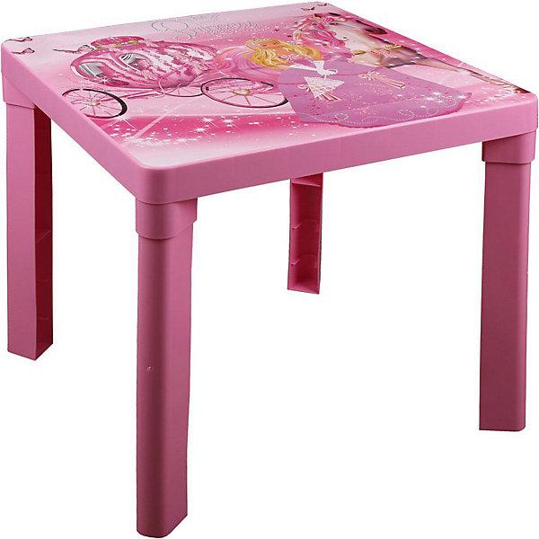Стол детский Принцесса , AlternativaДетские столы и стулья<br>Характеристики:<br><br>• Предназначение: для приема пищи, занятий или игр<br>• Материал: пластик<br>• Цвет: розовый<br>• Размер (Д*Ш*В):  51*51*47 см<br>• Вес: 1 кг 430 г<br>• Форма столешницы: квадратная<br>• Особенности ухода: разрешается мыть <br><br>Стол детский Принцесса, Alternativa изготовлен отечественным производителем ООО ЗПИ Альтернатива, который специализируется на выпуске широкого спектра изделий и предметов мебели из пластика. Стол выполнен из экологически безопасного и прочного пластика, устойчивого к механическим повреждениям и изменению цвета. Детский стол является безопасным для ребенка: у него отсутствуют острые углы, он имеет легкий вес, но при этом очень устойчивый за счет широких ножек. Столешница выполнена в форме квадрата, имеет яркий дизайн в виде рисунка Золушки. Стол имеет компактный размер и разборную конструкцию, благодаря чему его можно брать с собой на дачу. Для стола можно подобрать стул от производителя, выполненный в том же дизайне, что и стол.<br><br>Стол детский Принцесса, Alternativa можно купить в нашем интернет-магазине.<br><br>Ширина мм: 510<br>Глубина мм: 510<br>Высота мм: 470<br>Вес г: 1430<br>Возраст от месяцев: 36<br>Возраст до месяцев: 84<br>Пол: Женский<br>Возраст: Детский<br>SKU: 5096689